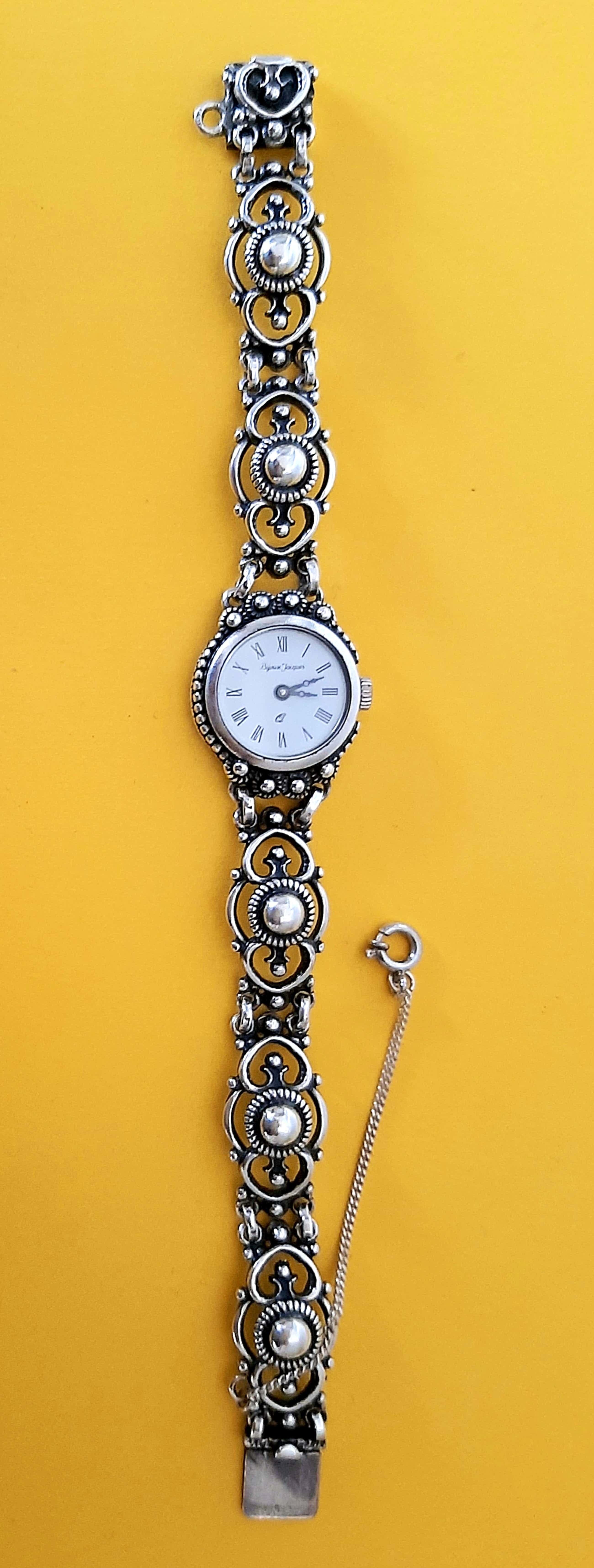 Niet of onleesbaar gesigneerd - Zilver 925 horloge Bijoux Jacques kopen? Bied vanaf 35!