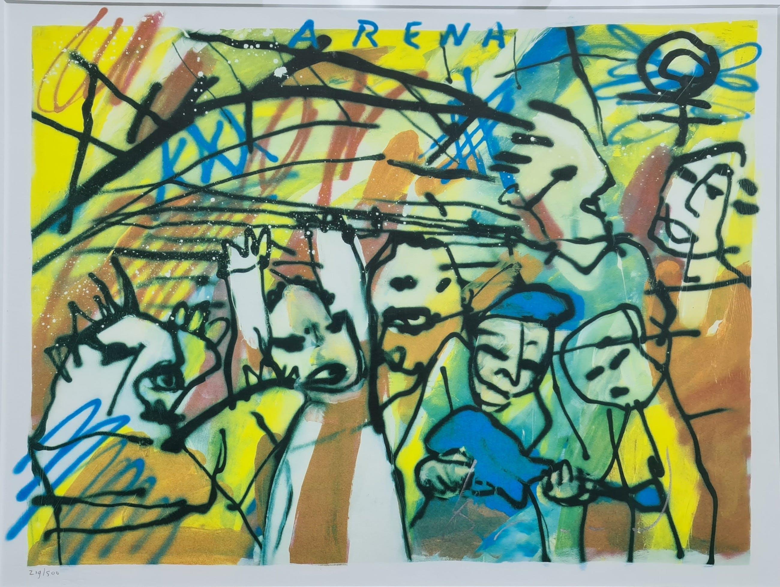 Herman Brood - Arena (Ajax) - gesigneerd - 500 ex - ingelijst kopen? Bied vanaf 235!