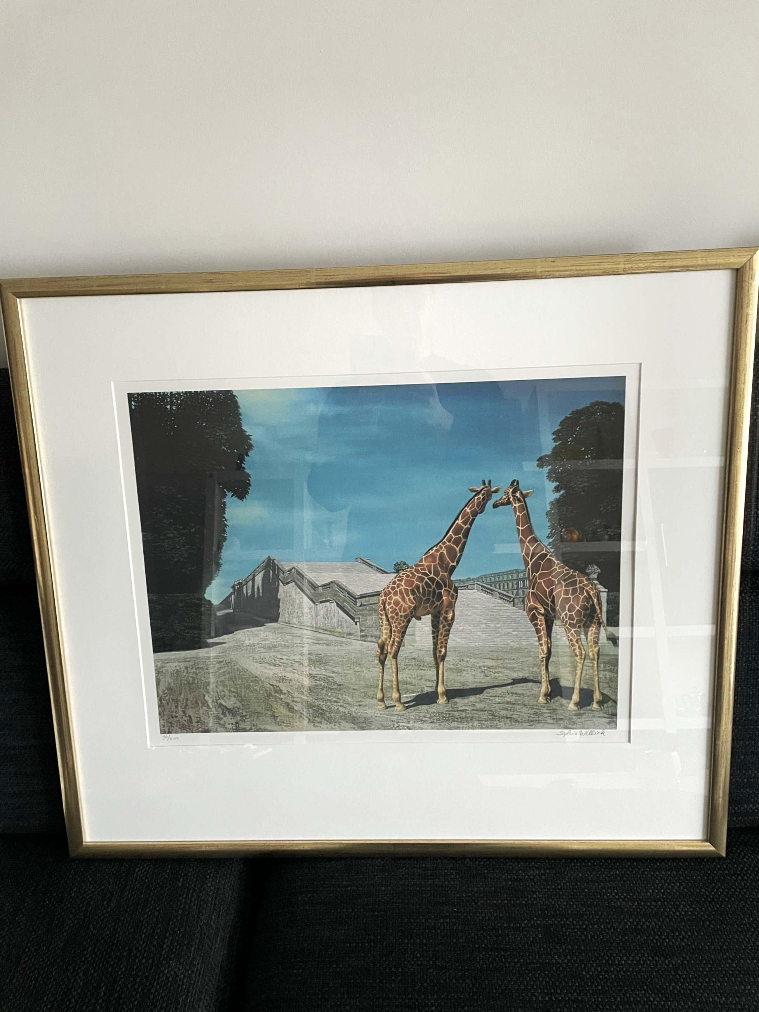 Carel Willink - Grote litho 'Twee Giraffen' kopen? Bied vanaf 210!