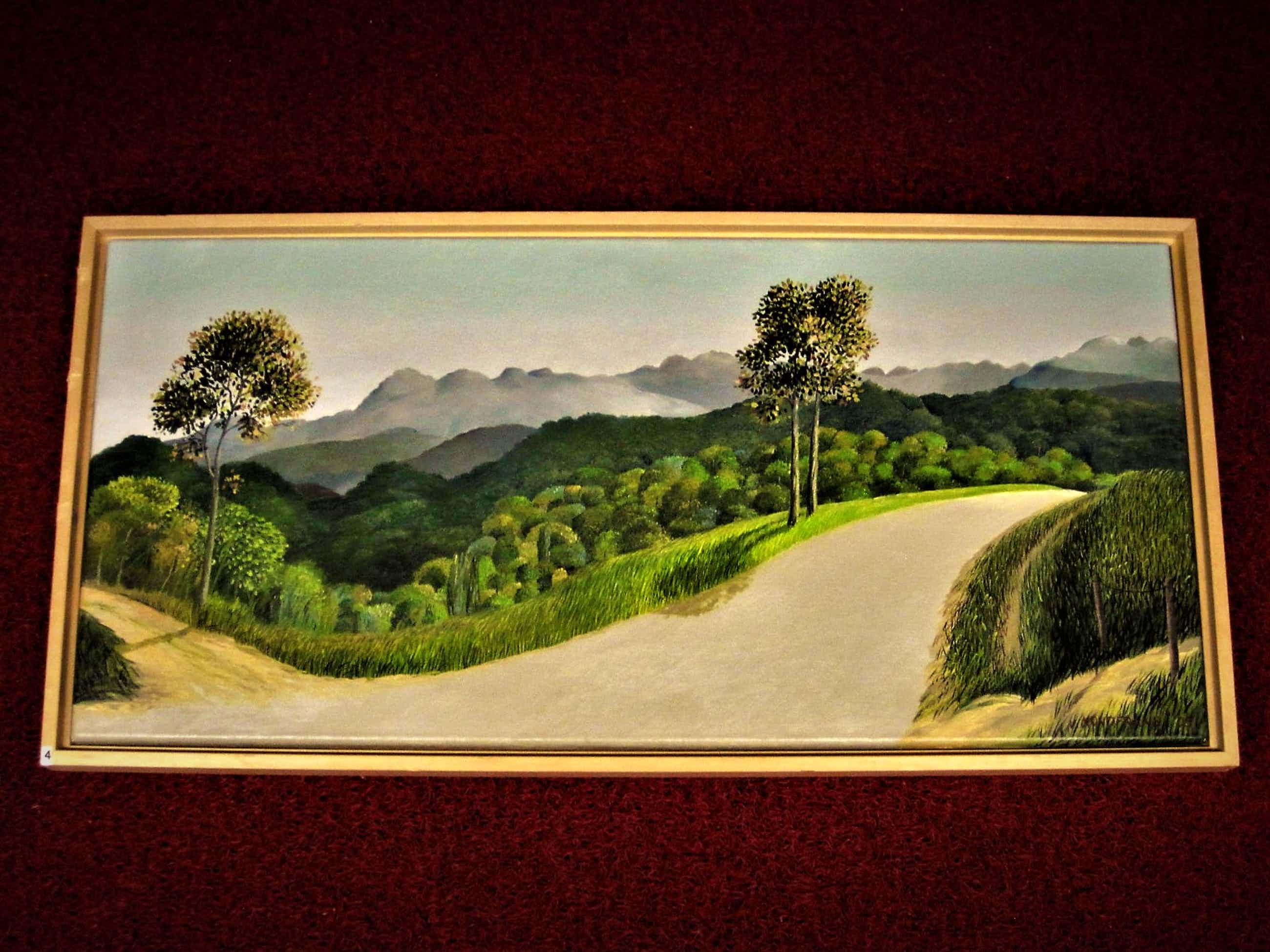 """Erna van Mondfrans - verstild realistisch olieverf """"Frankrijk Landschap Lardy Ile de France"""" gesign kopen? Bied vanaf 80!"""