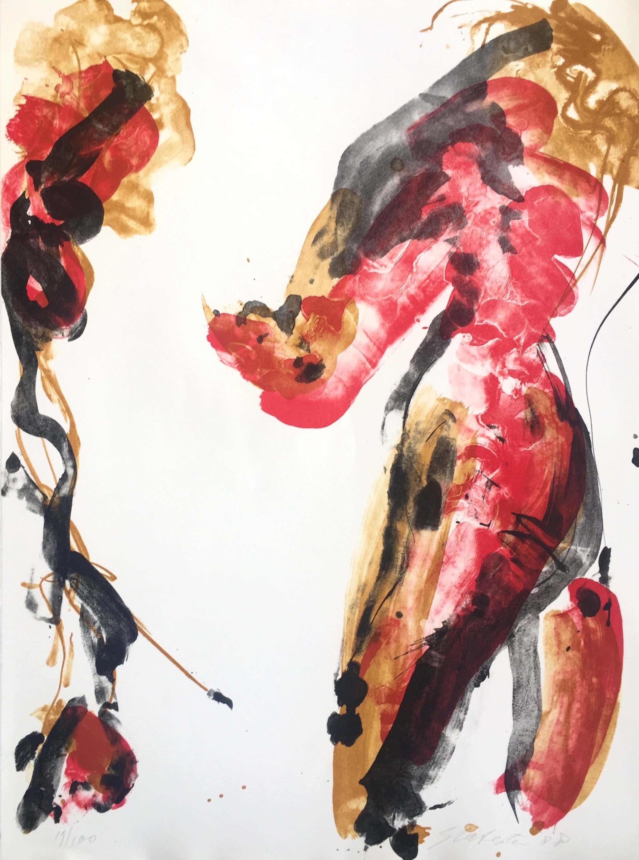 Ger Lataster - abstracte litho - 1988 - oplage 100 ex kopen? Bied vanaf 60!