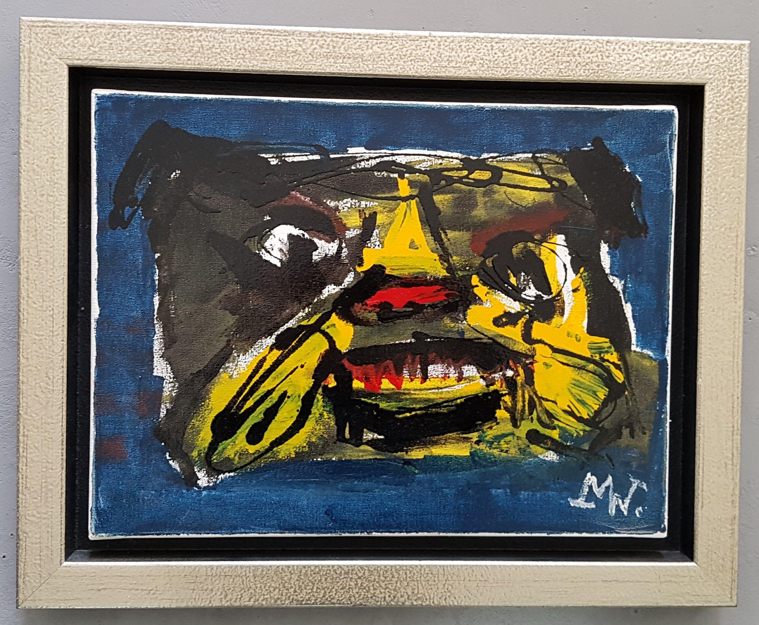 Martin van Wordragen - 'Masker'. Origineel werk. Mooie kleurstelling kopen? Bied vanaf 225!