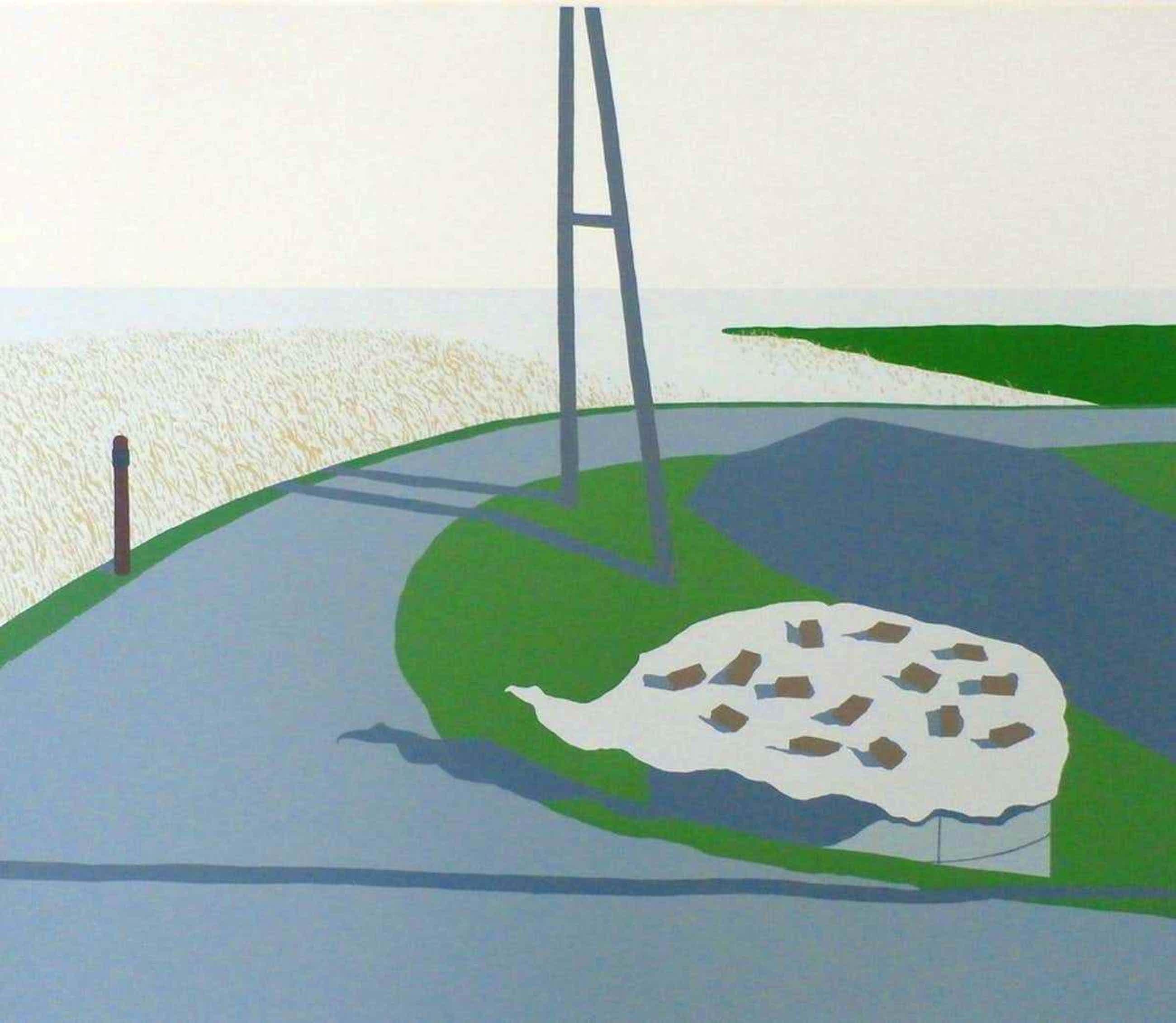 Doris Groeneveld - zeefdruk: kuilgrassilo (Westfriese zeedijk) -1978 kopen? Bied vanaf 36!