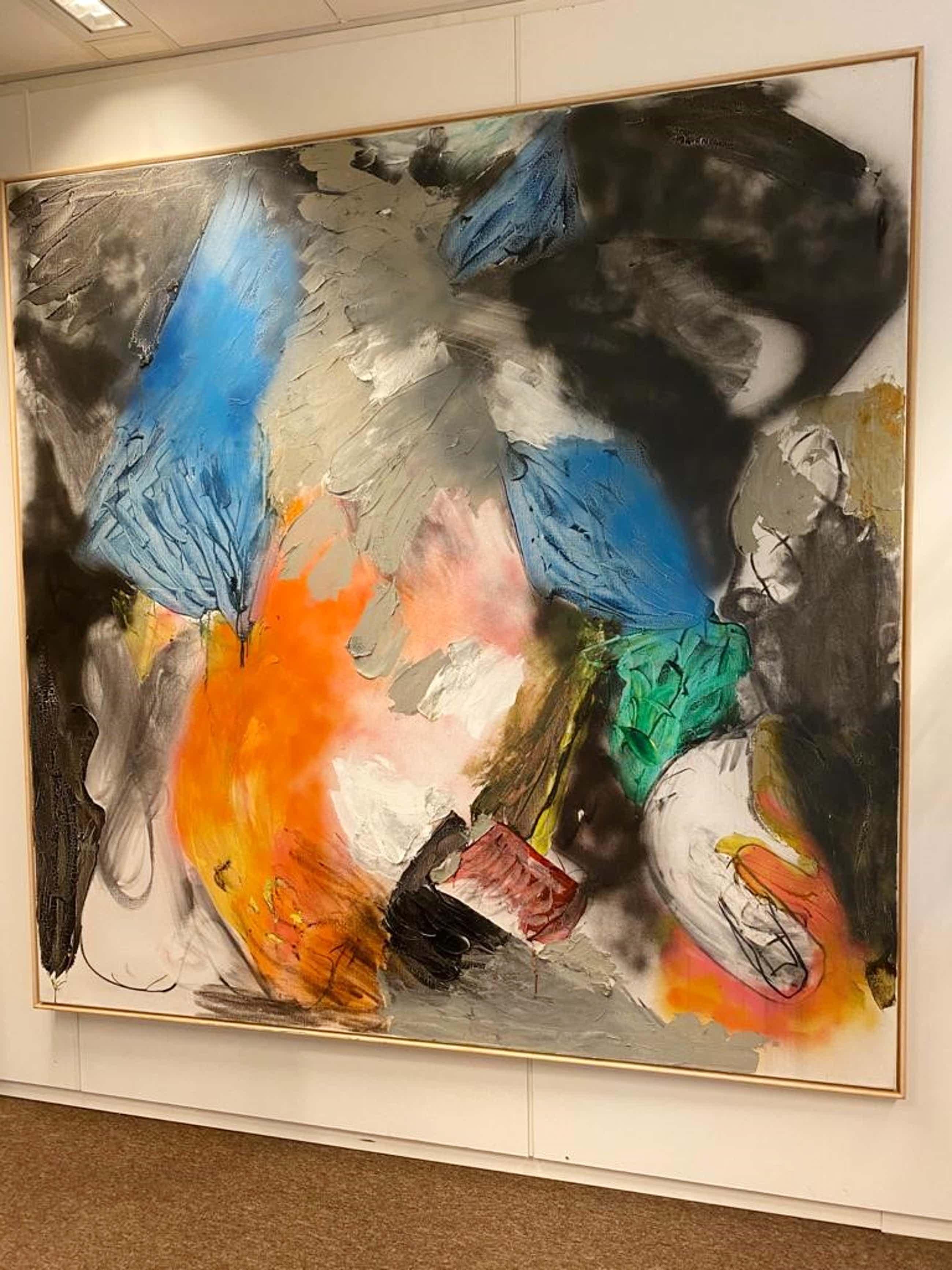 Ger Lataster - Compositie olieverf/ airbrush op doek 200 x 200 gesigneerd en gedateerd '88 kopen? Bied vanaf 4450!