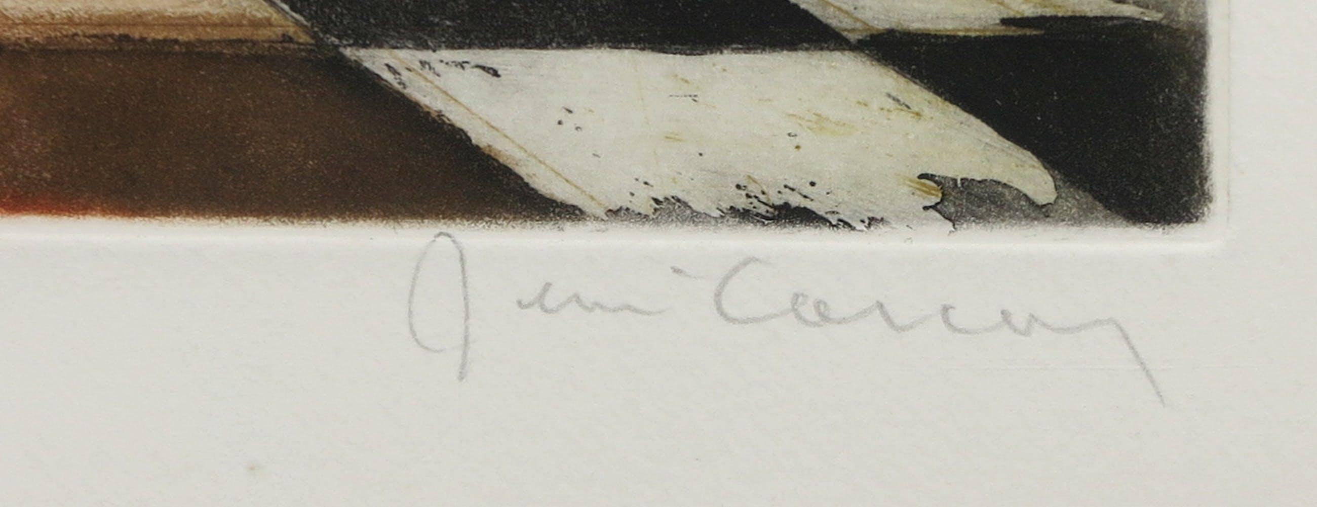 Rene Carcan - Aquatint, L'arche des Elements - Ingelijst kopen? Bied vanaf 1!