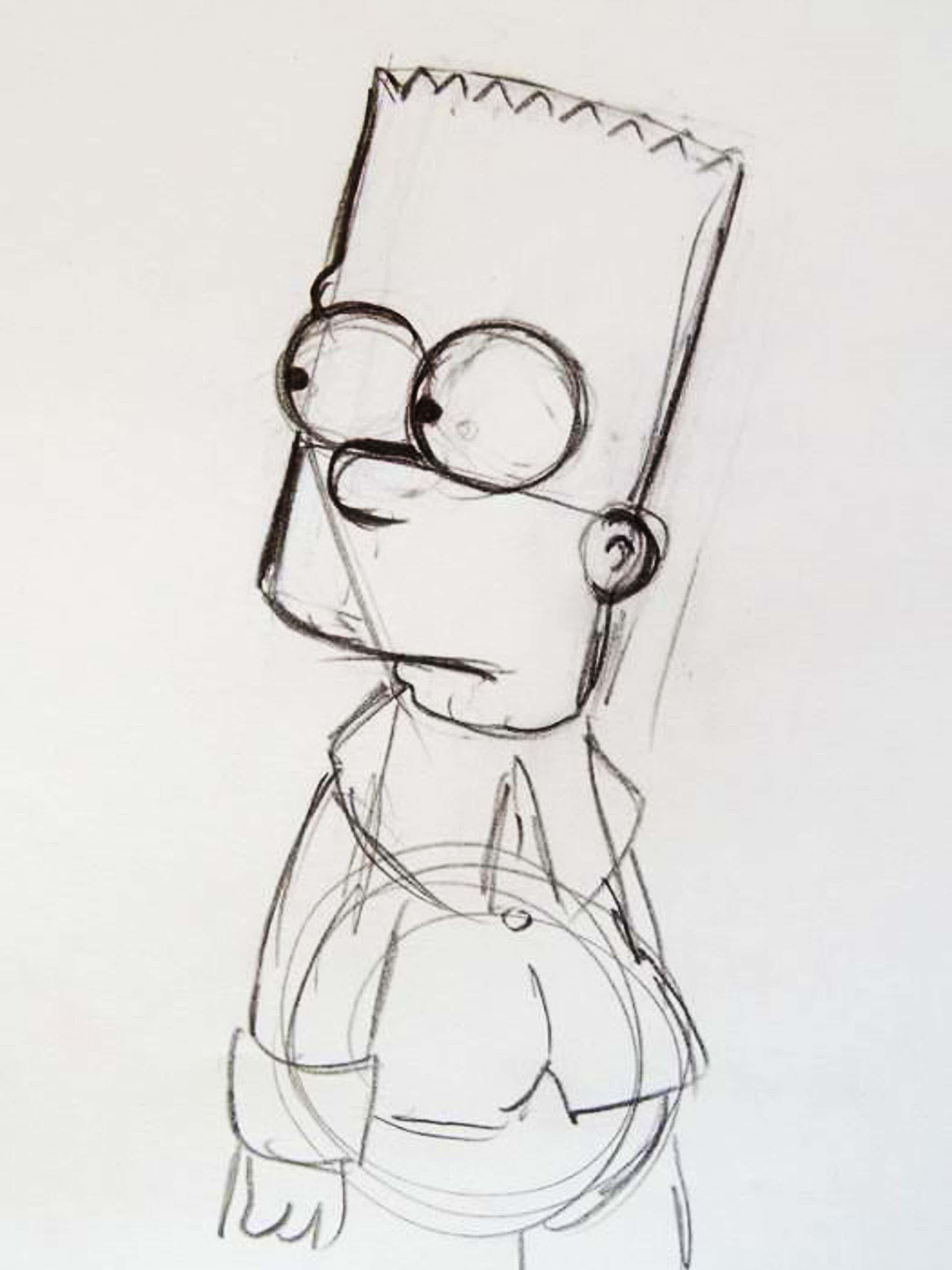 Matt Groening - originele tekening Bart, The Simpsons, + certificaat kopen? Bied vanaf 250!