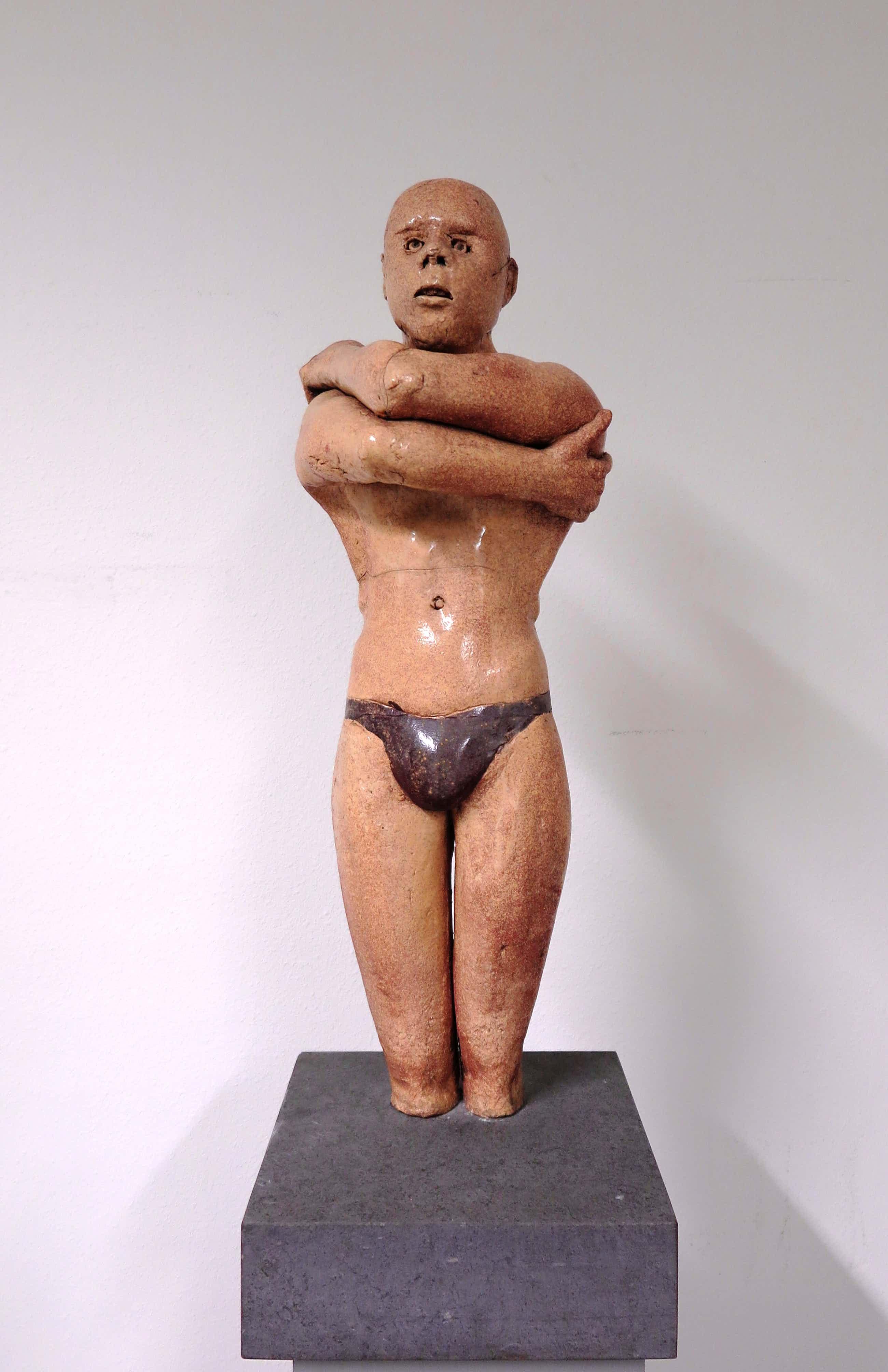 Sjer Jacobs - Groot keramiek beeld van een zwemmer kopen? Bied vanaf 650!