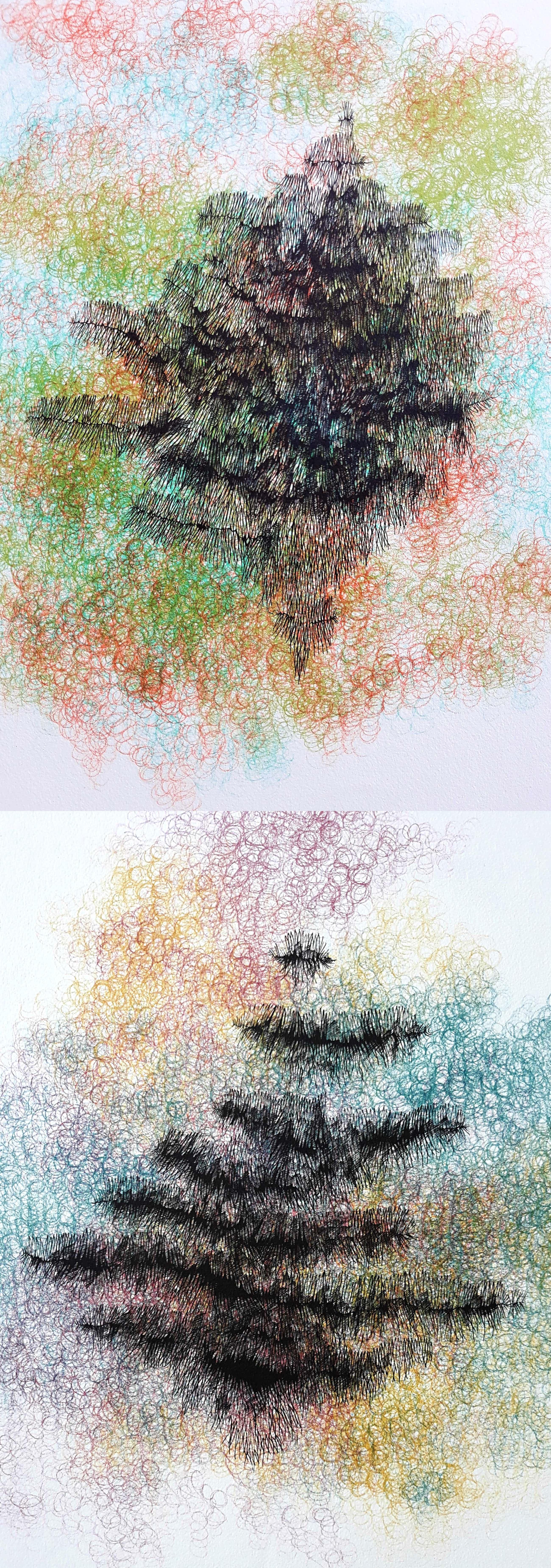 Yoshiko Noma - Sous les Arbres & Eau d'artifice, litho (2x) kopen? Bied vanaf 175!