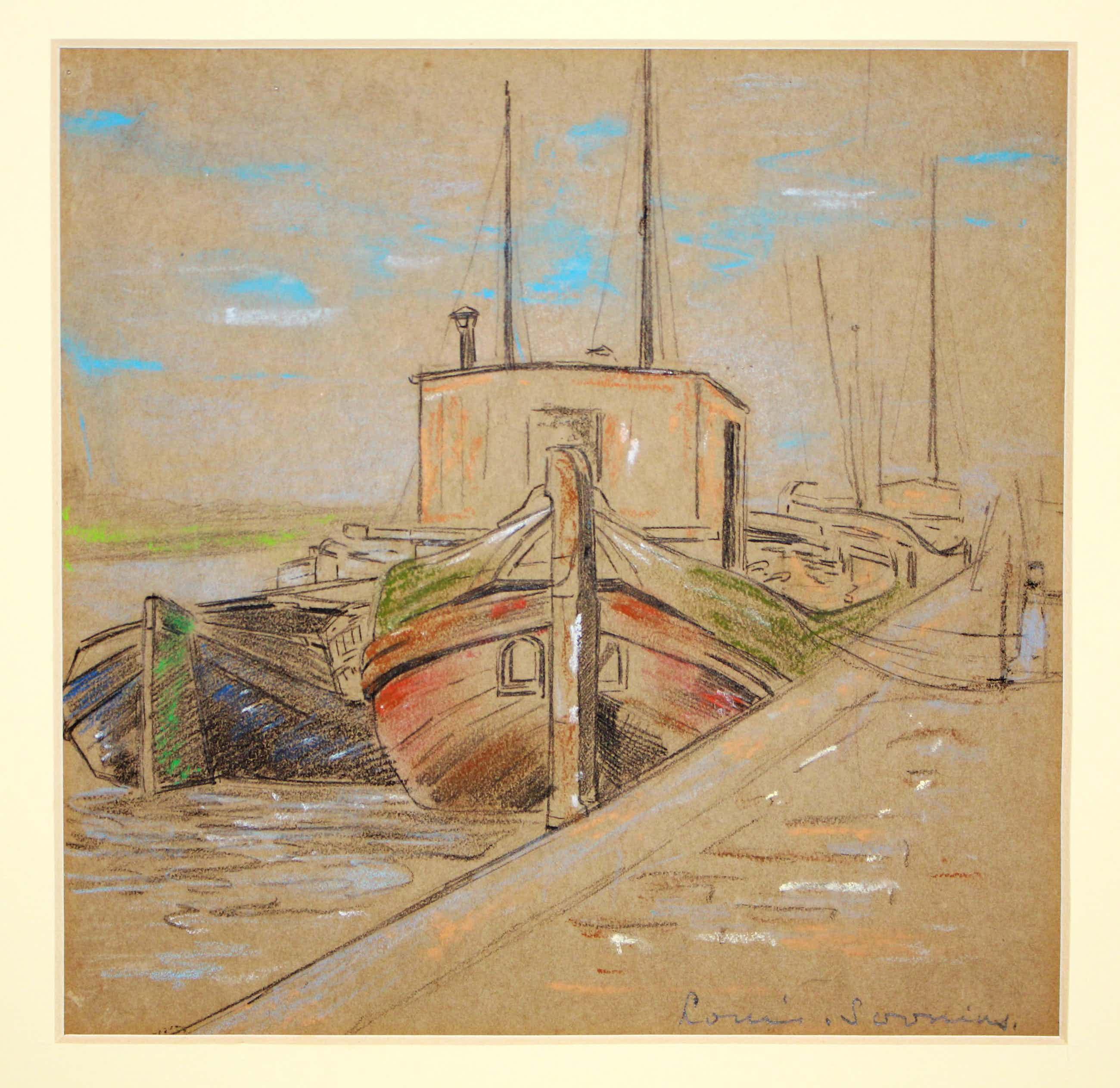 Louis Soonius - Vissersboot langs de kade kopen? Bied vanaf 180!