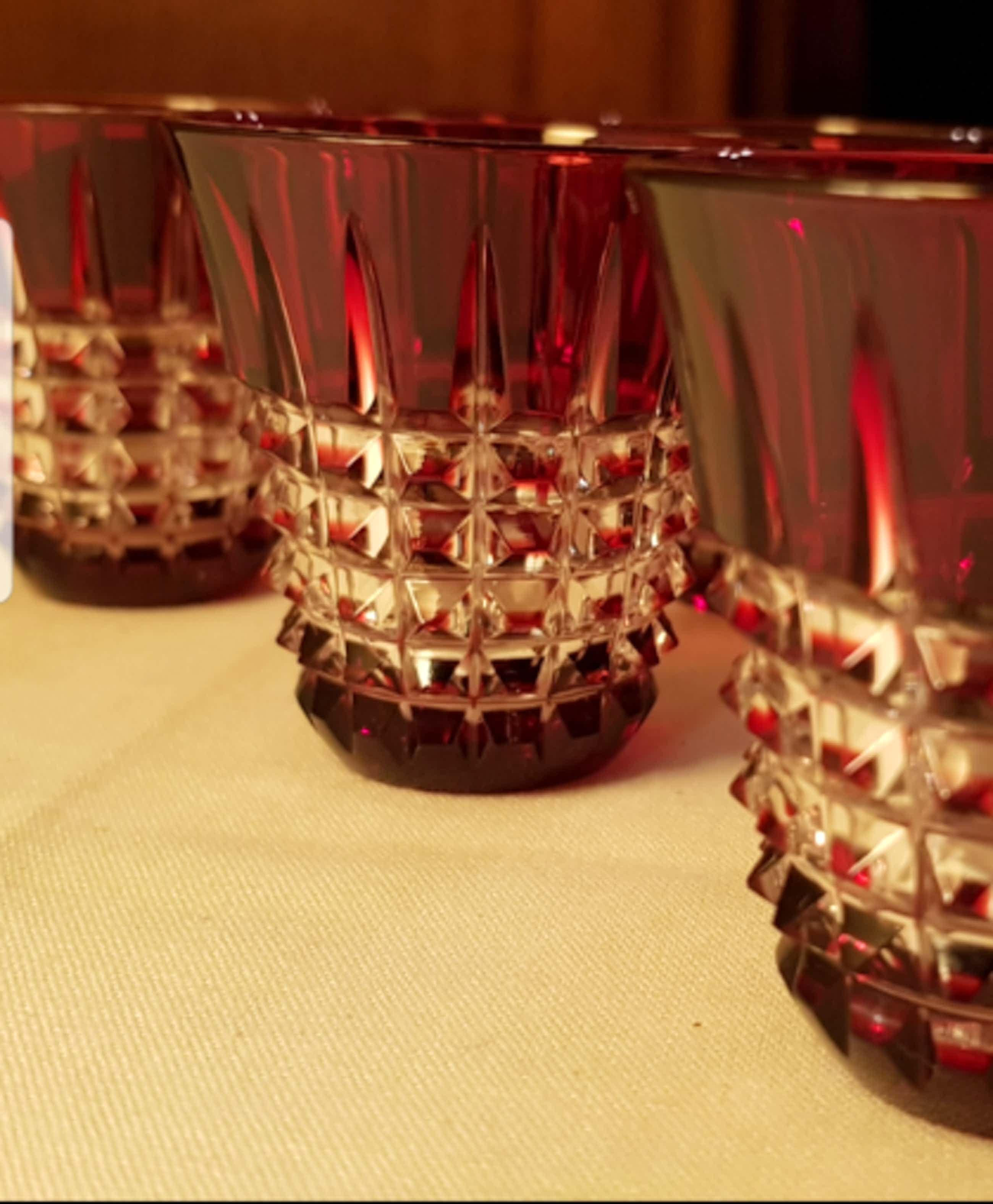 Val-Saint-Lambert - 6 Rode glazen kopen? Bied vanaf 70!