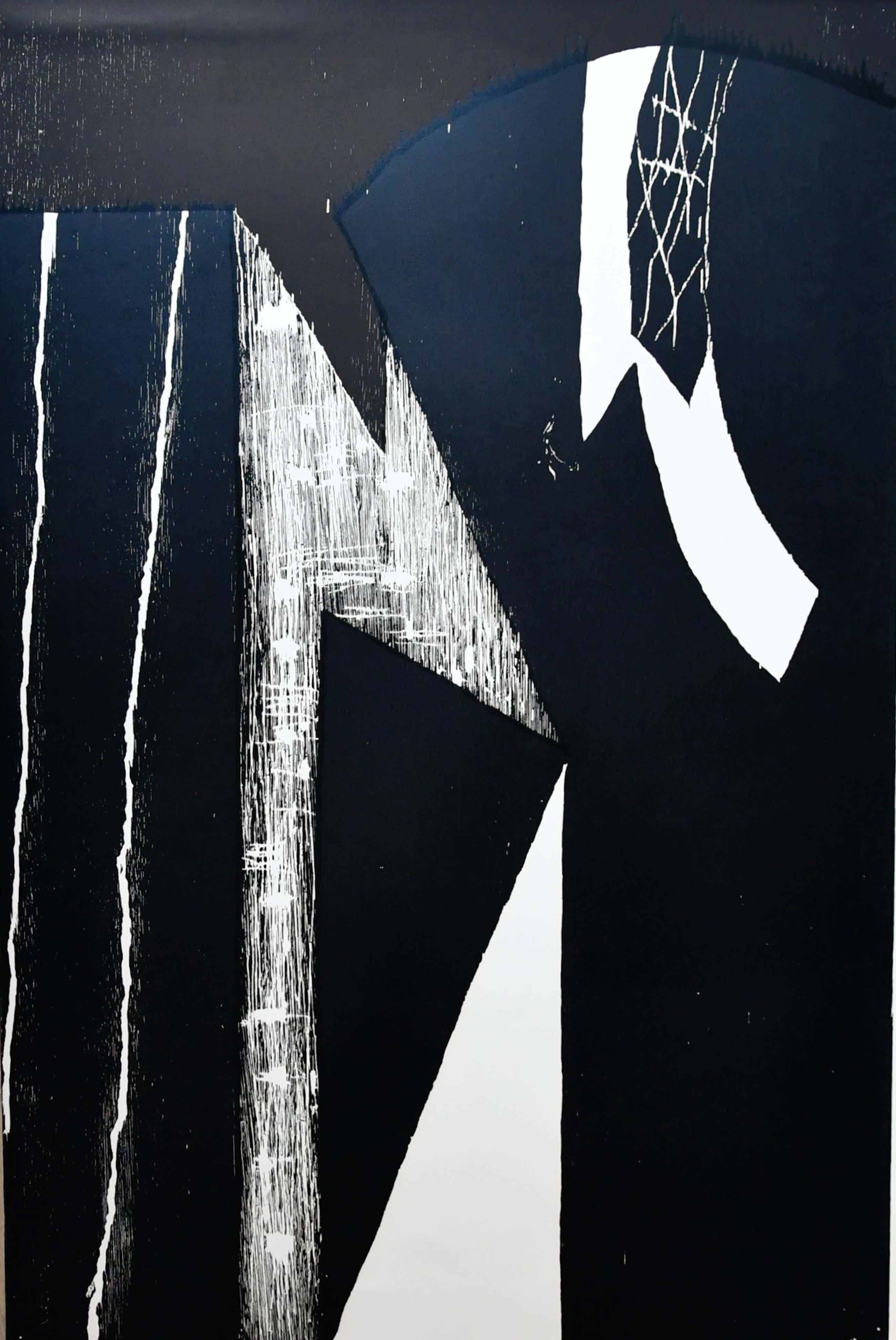 Guillaume Le Roy - Guillaume Le Roy # COMPOSITIE # groot formaat houtsnede, 1984, mint kopen? Bied vanaf 95!