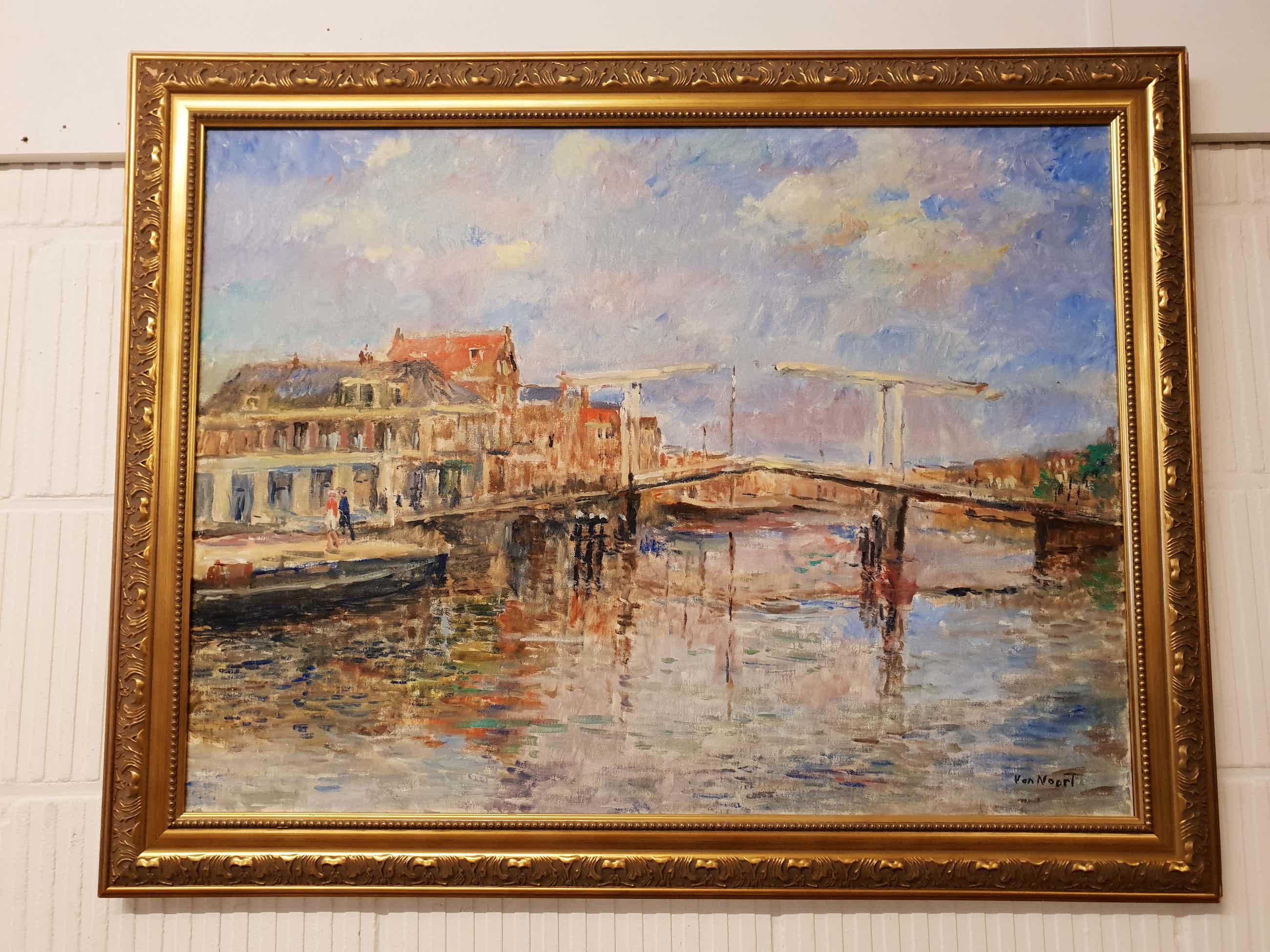 Alexander van Noort - Schilderij stadsgezicht Haarlem kopen? Bied vanaf 450!
