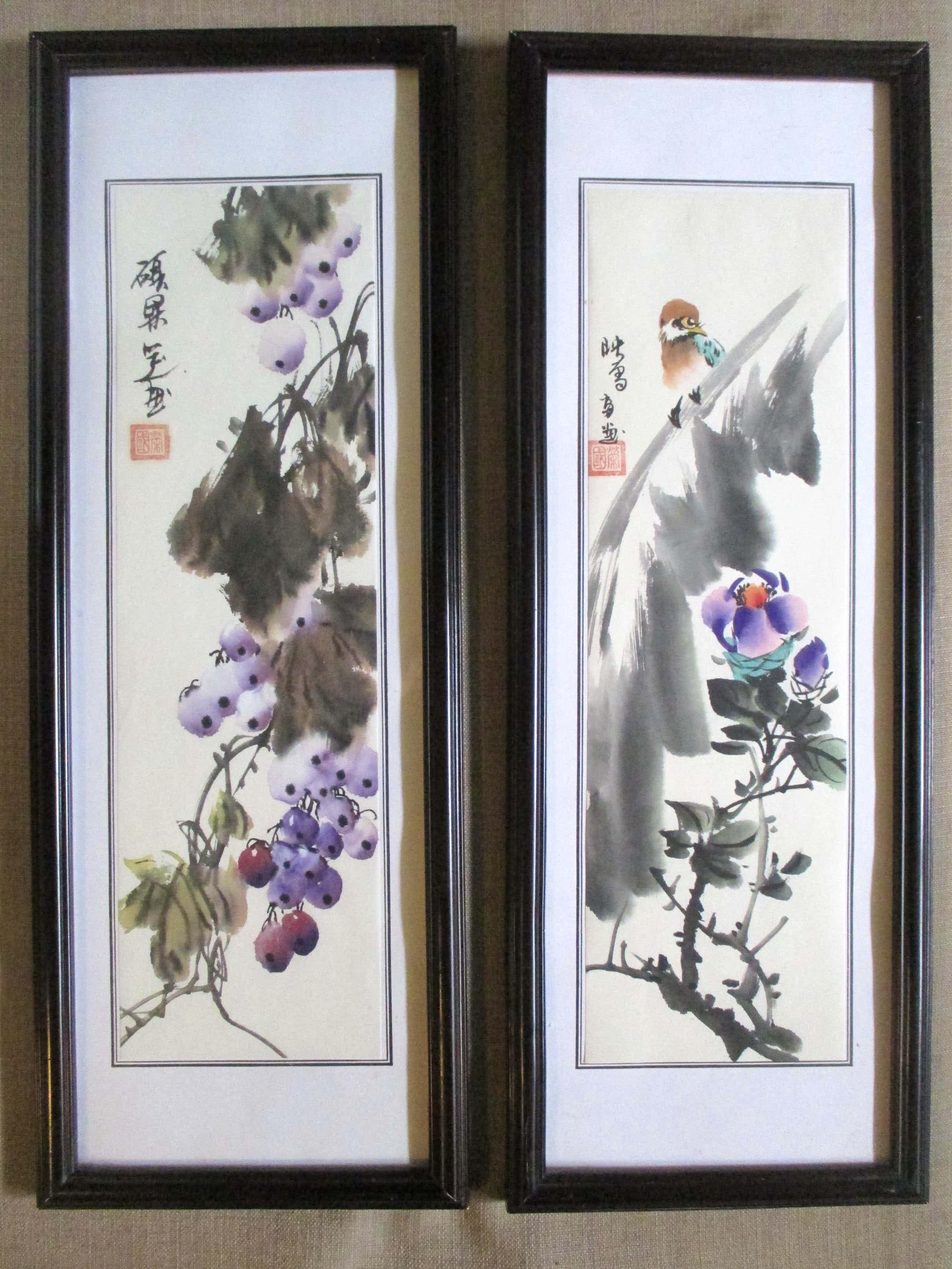 Niet of onleesbaar gesigneerd - Twee ingelijste aquarellen kopen? Bied vanaf 36!