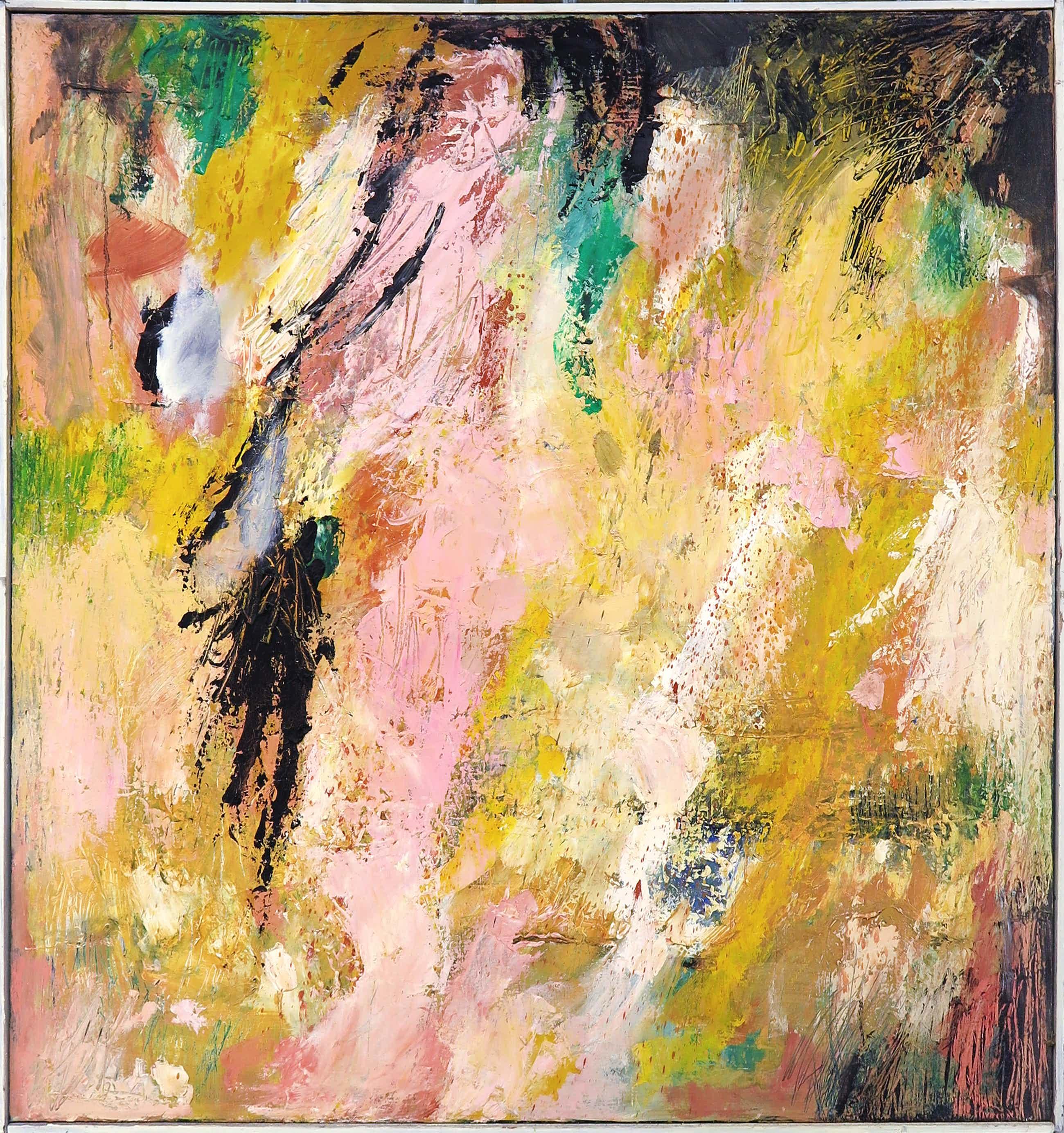 Frans Nicolai - Olieverf op doek, Abstracte compositie - Ingelijst (Groot) kopen? Bied vanaf 336!