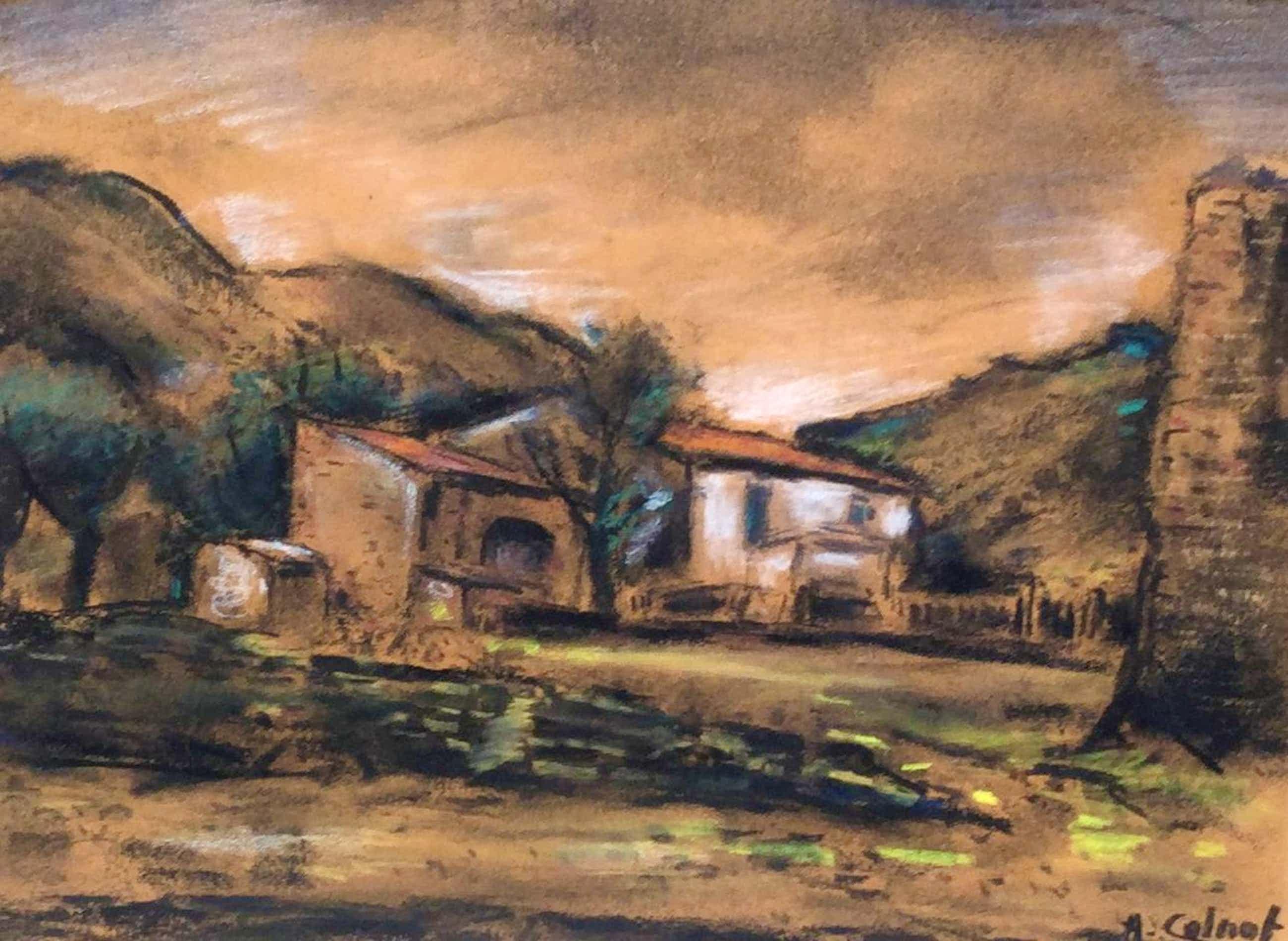 Arnout Colnot - C4939-1, Berglandschap met boerderij kopen? Bied vanaf 90!