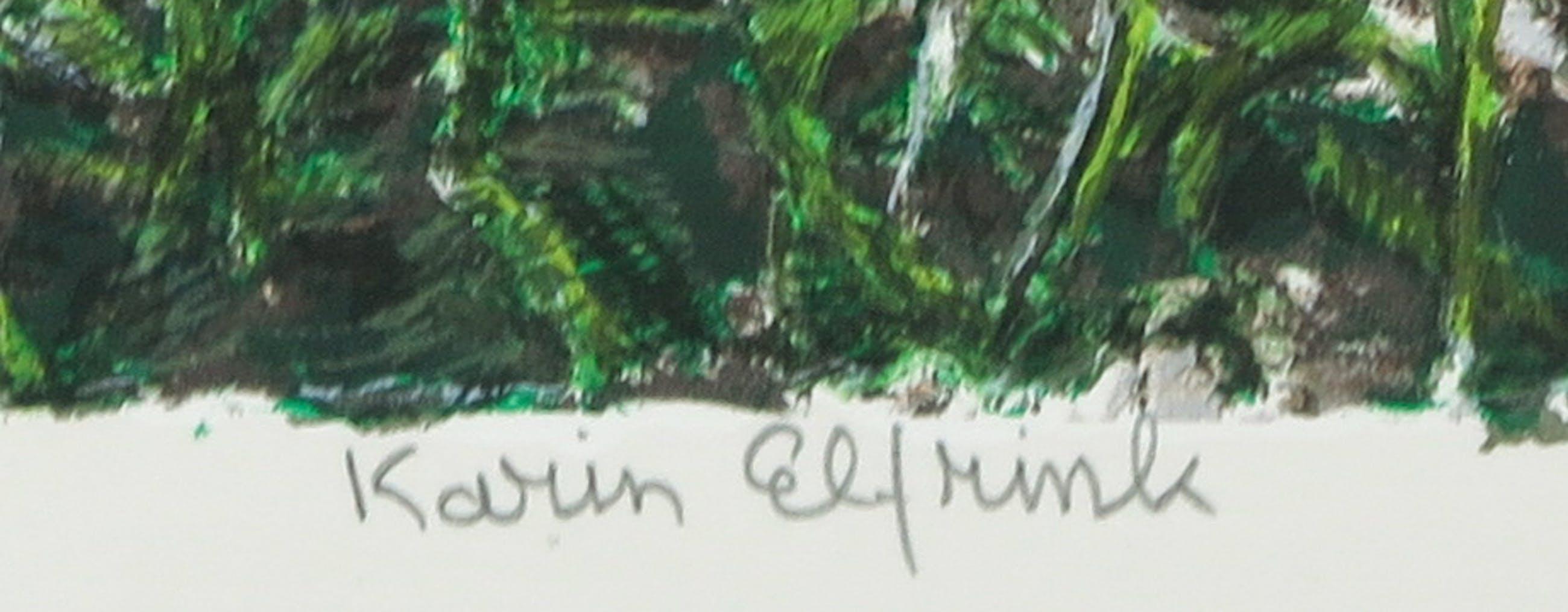 Karin Elfrink - Zeefdruk, Bomen Bos Koningsduin kopen? Bied vanaf 35!