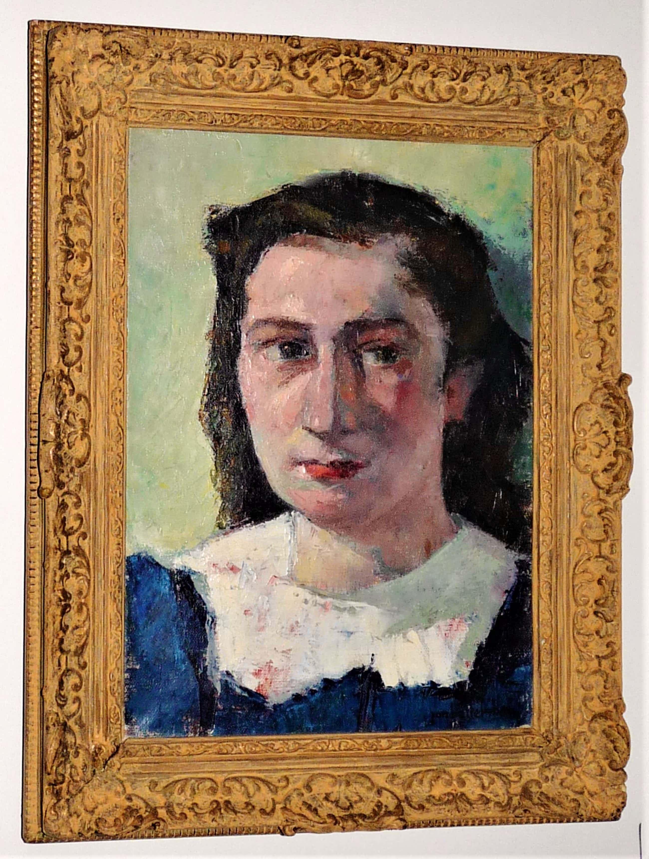 Jan Battermann - Portret van een jongedame kopen? Bied vanaf 120!