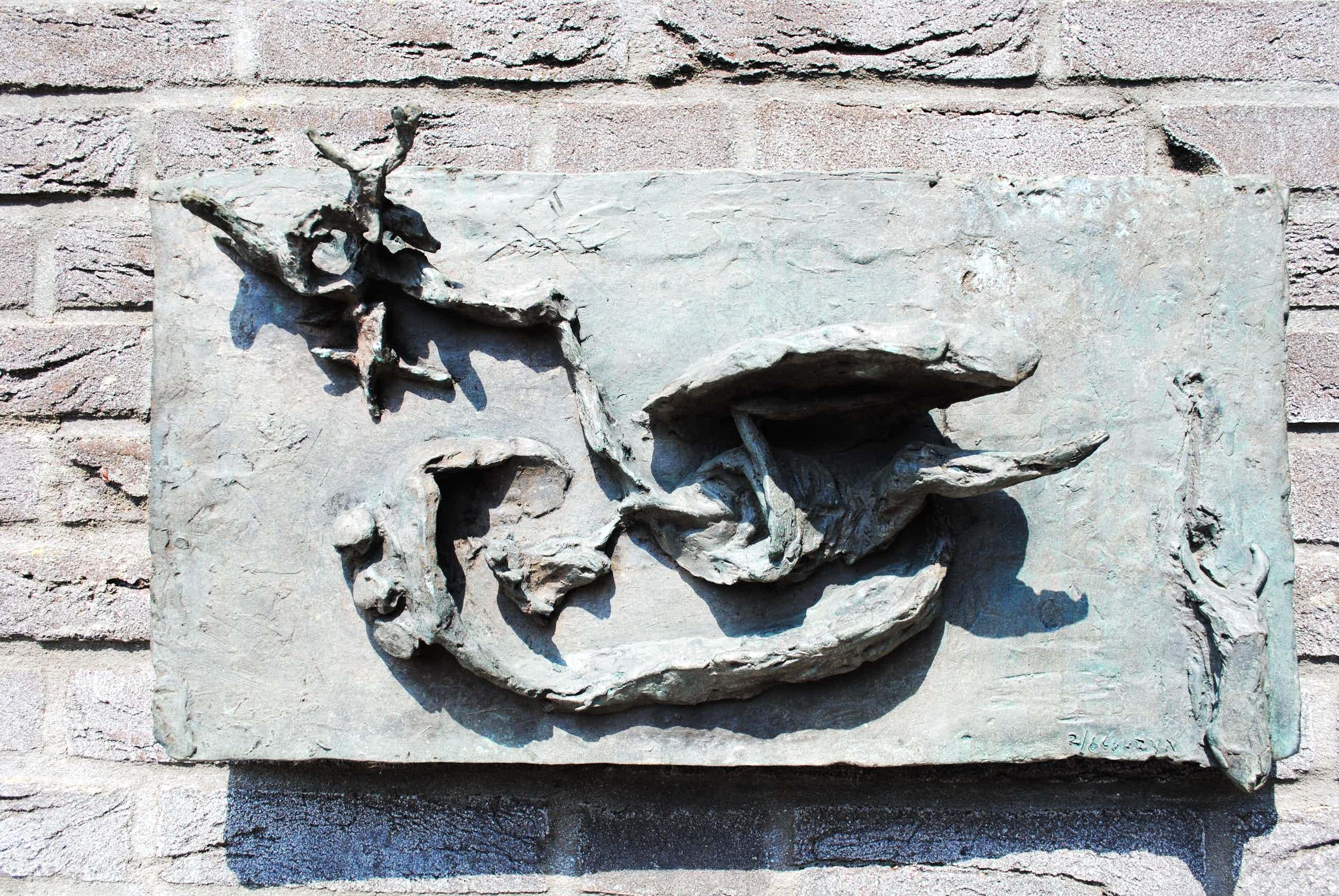 Wessel Couzijn - Wandsculptuur brons - Opstanding (Verrijzenis) uit 1955 - oplage 2/6  kopen? Bied vanaf 1750!