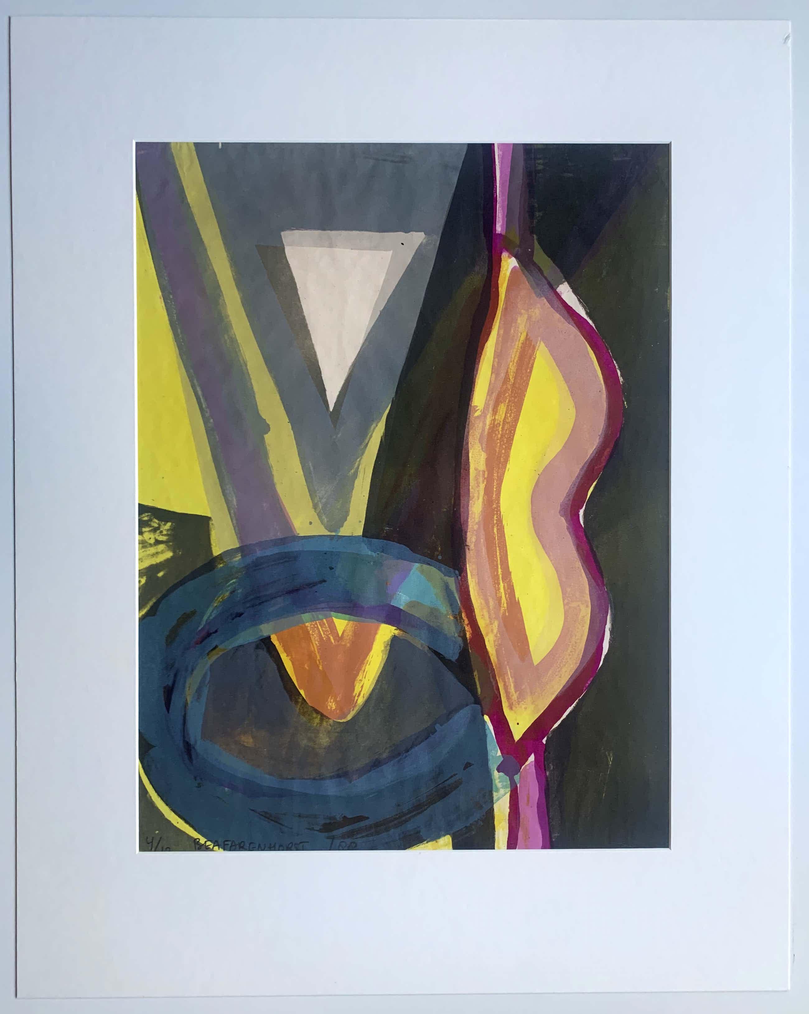 Bea Farenhorst - Kleurenzeefdruk | 'Zonder titel' | 1988 (Kleine oplage) kopen? Bied vanaf 45!