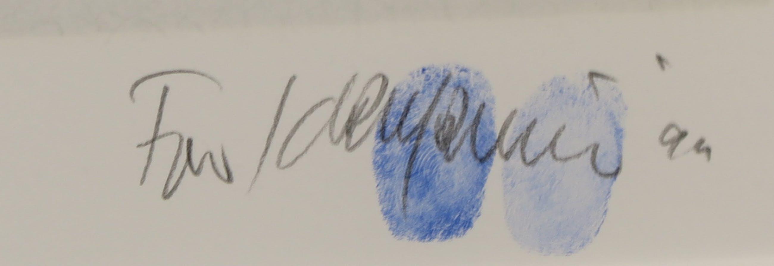 Fon Klement - Boardsnede, Vase Bleu - Ingelijst kopen? Bied vanaf 100!