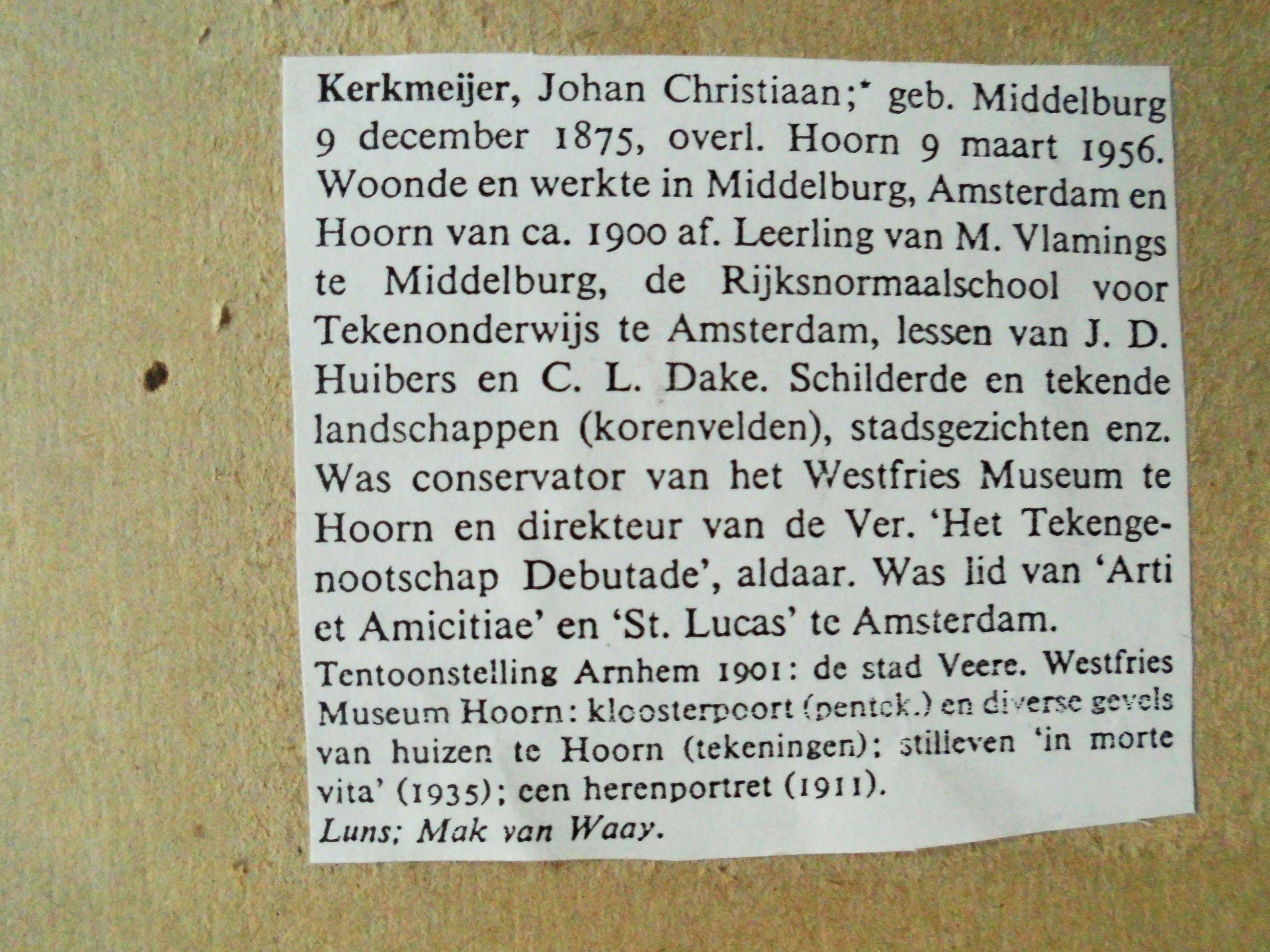 Johan Christiaan Kerkmeijer - Aquarel - Bloemen kopen? Bied vanaf 40!