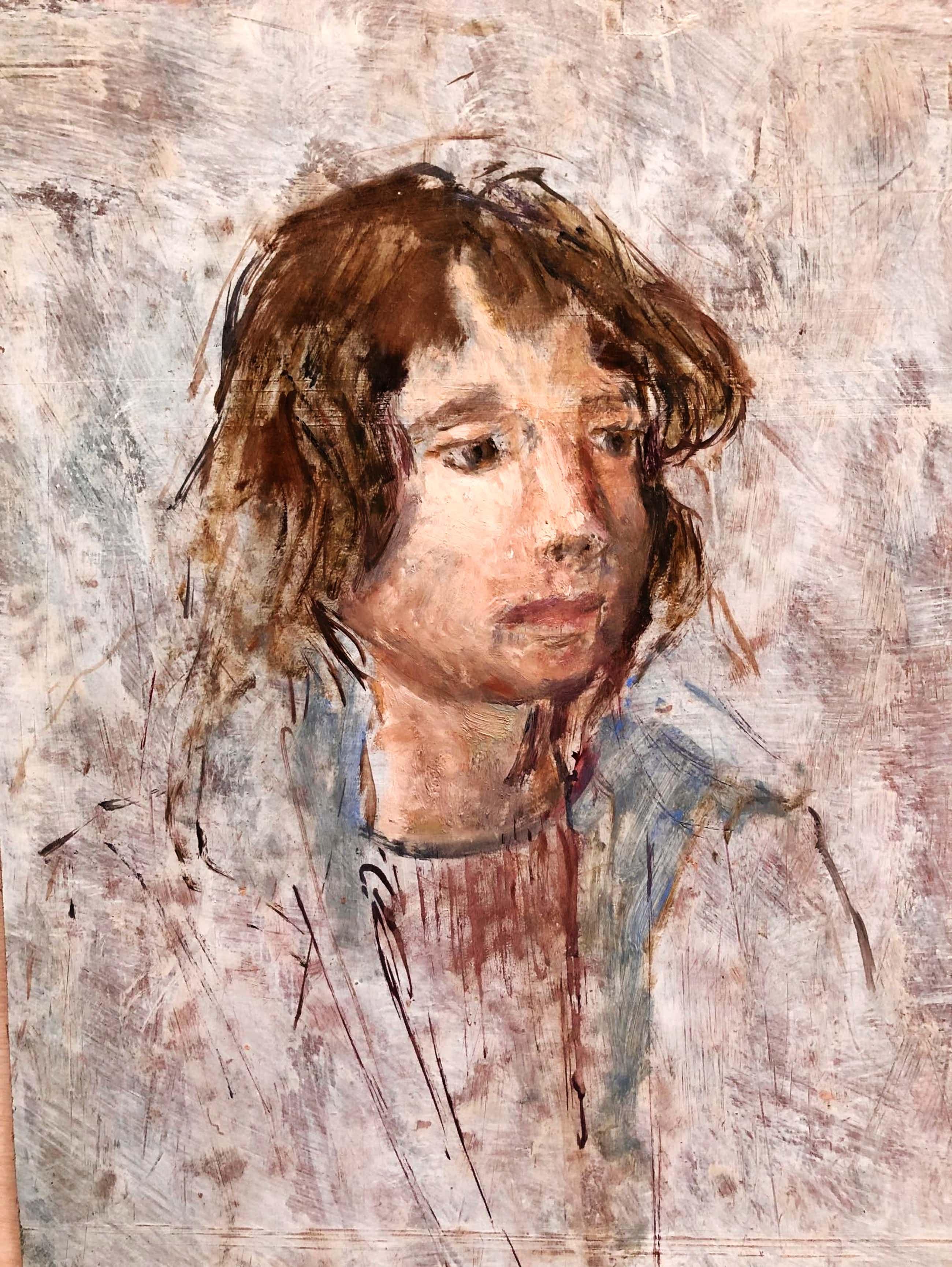 Josef Santen - portret van een meisje kopen? Bied vanaf 35!