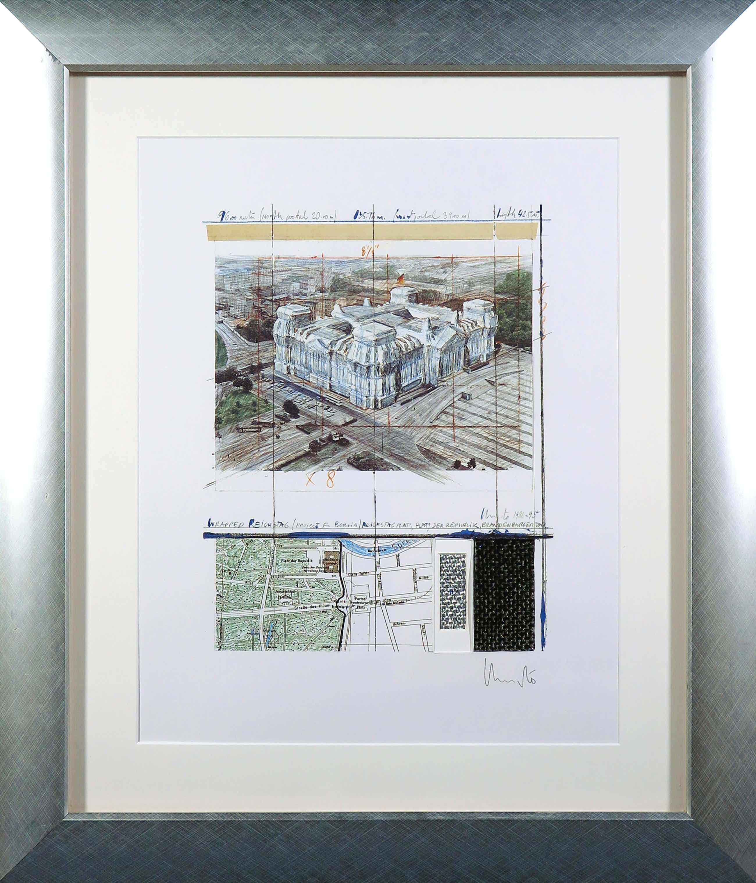 Christo - Handgesigneerd exemplaar Wrapped Reichstag - Ingelijst kopen? Bied vanaf 182!