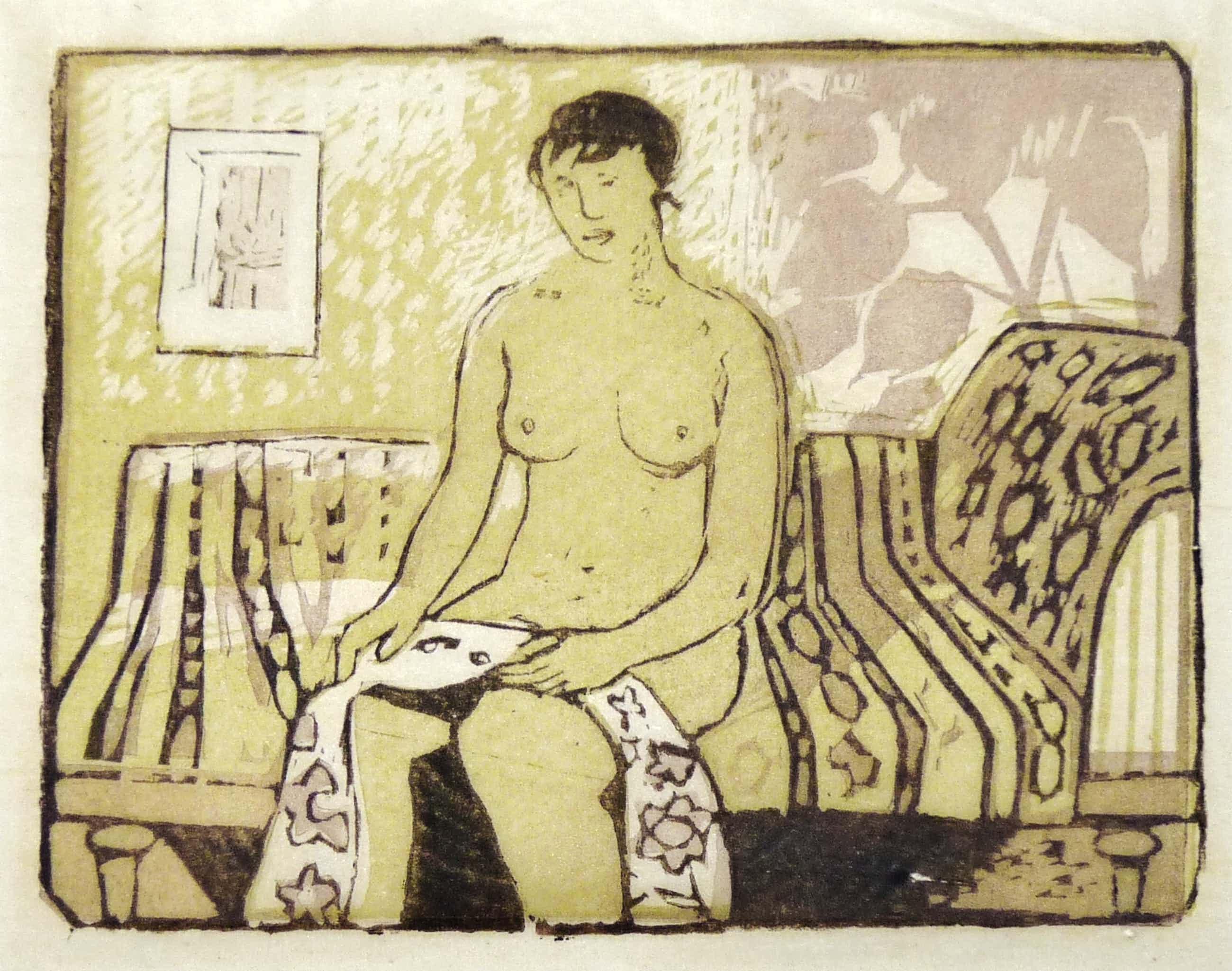 Otto B. de Kat - Zittende vrouw op sofa kopen? Bied vanaf 95!