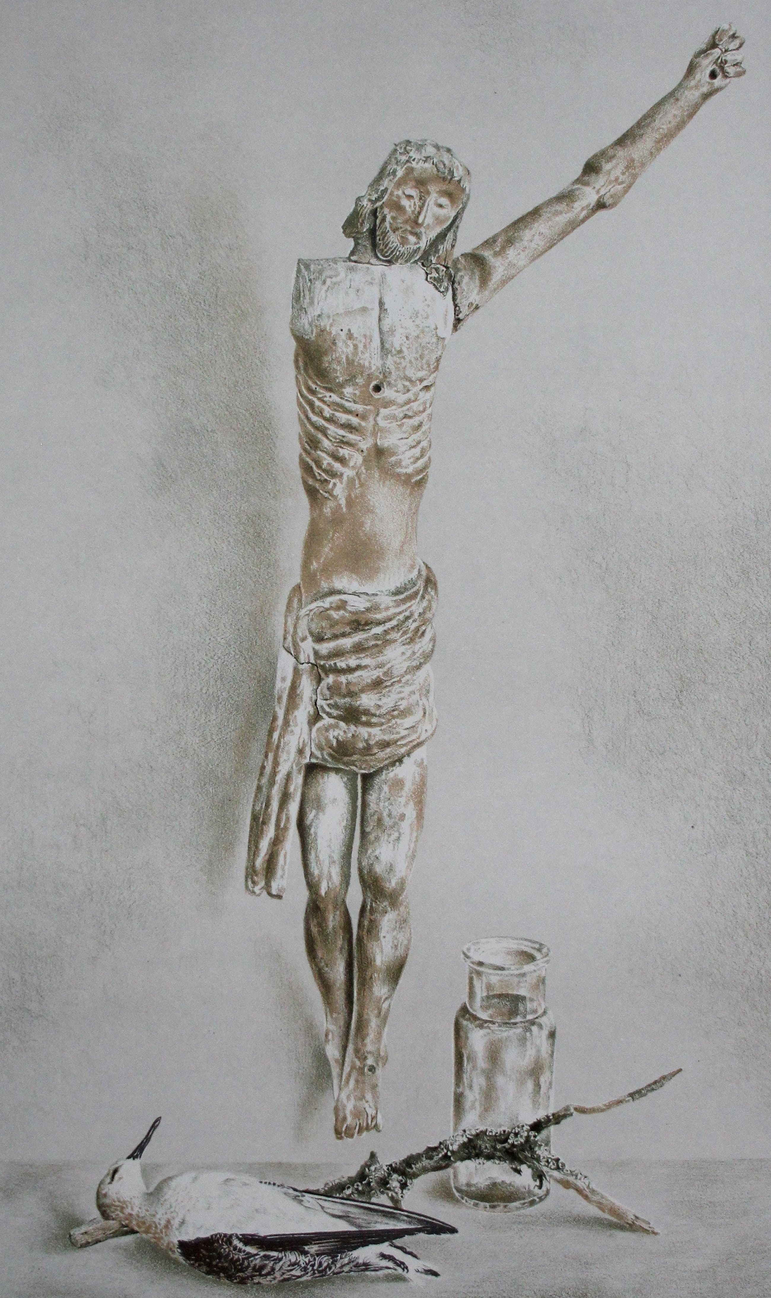 Wim Schuhmacher - litho: Corpus Christi met een dode meeuw kopen? Bied vanaf 40!