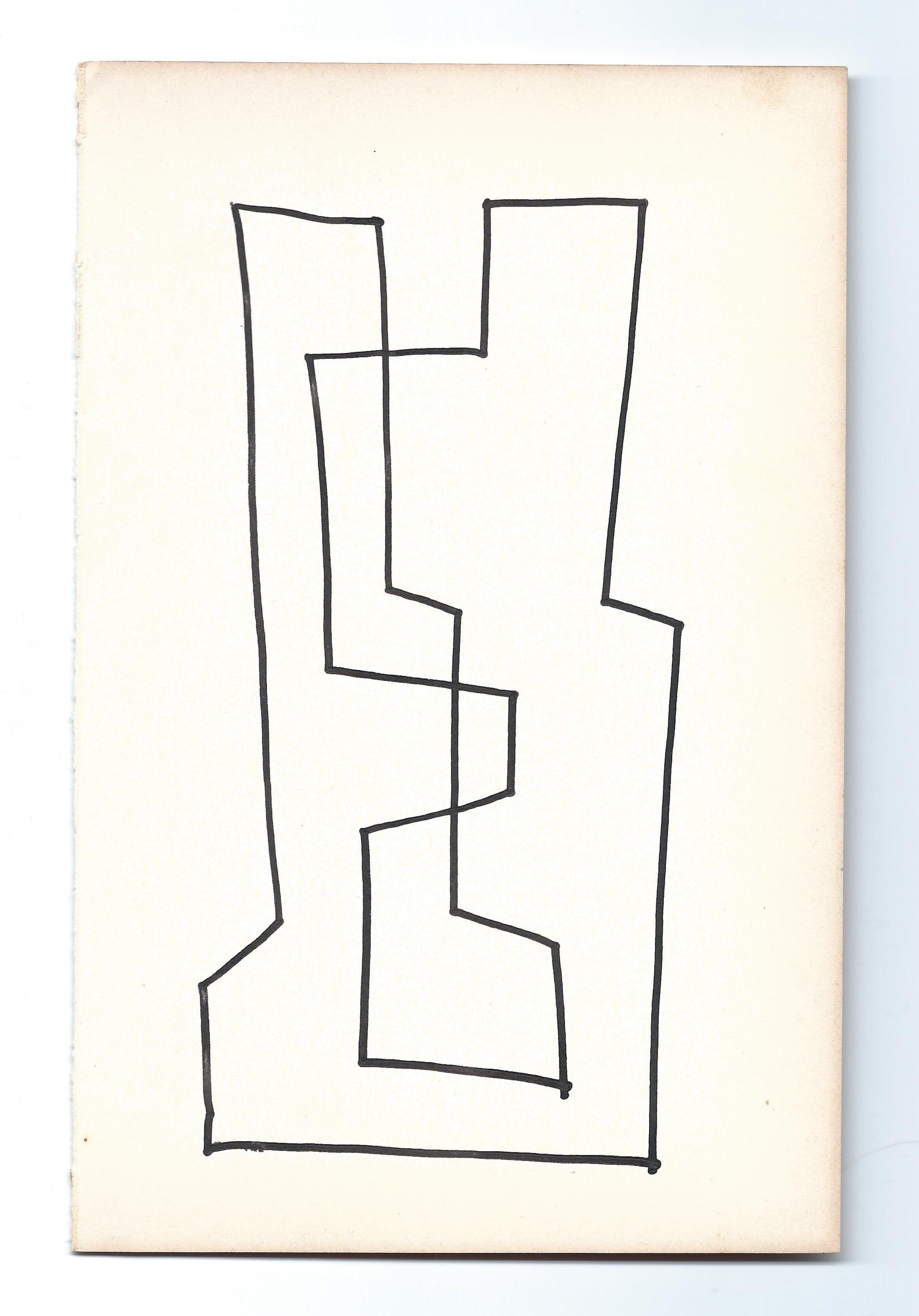 Siep van den Berg - compositie uit gesigneerd schetsboek kopen? Bied vanaf 1!