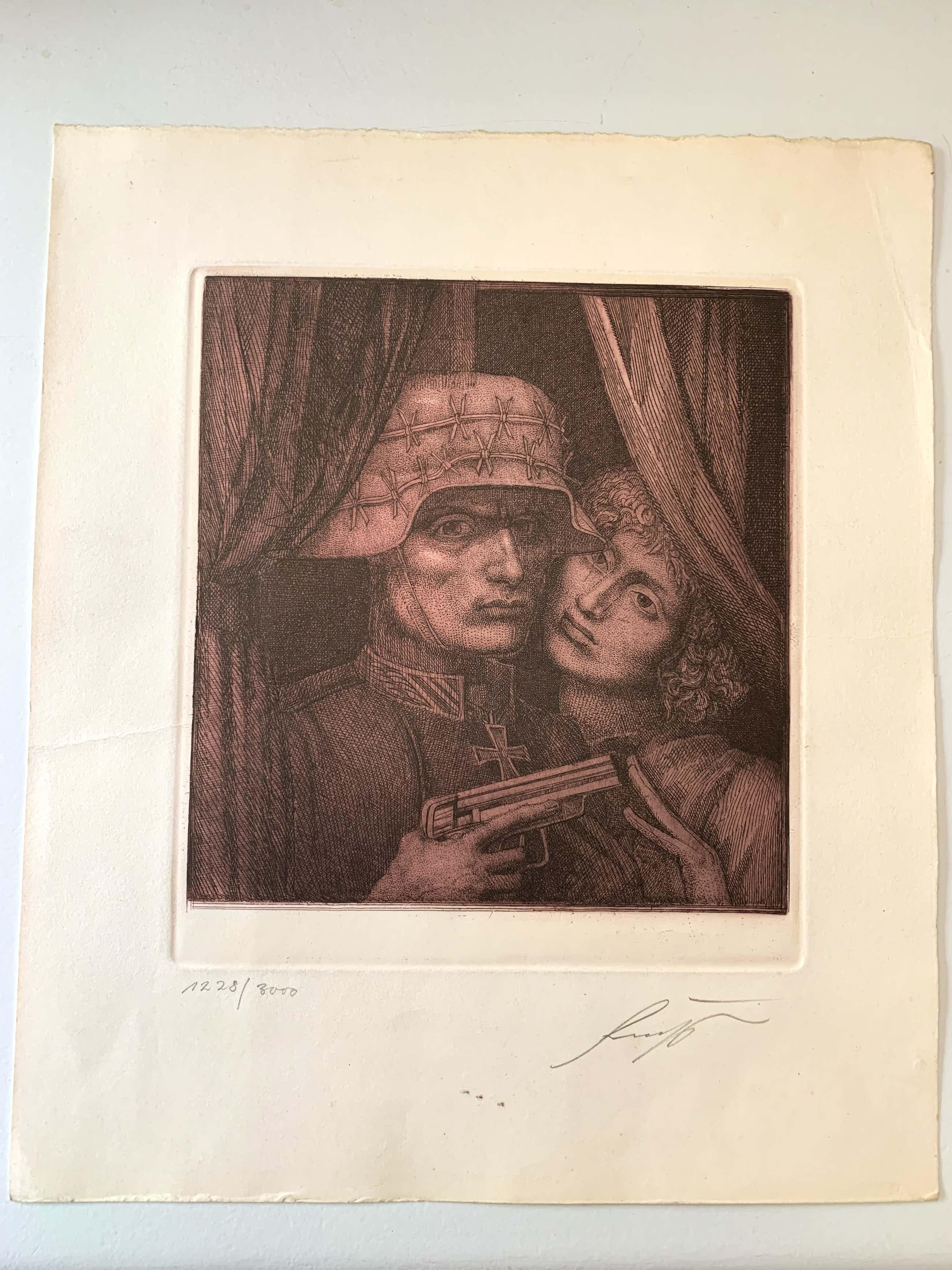 Ernst Fuchs - Der Soldat und sein Engel kopen? Bied vanaf 52!