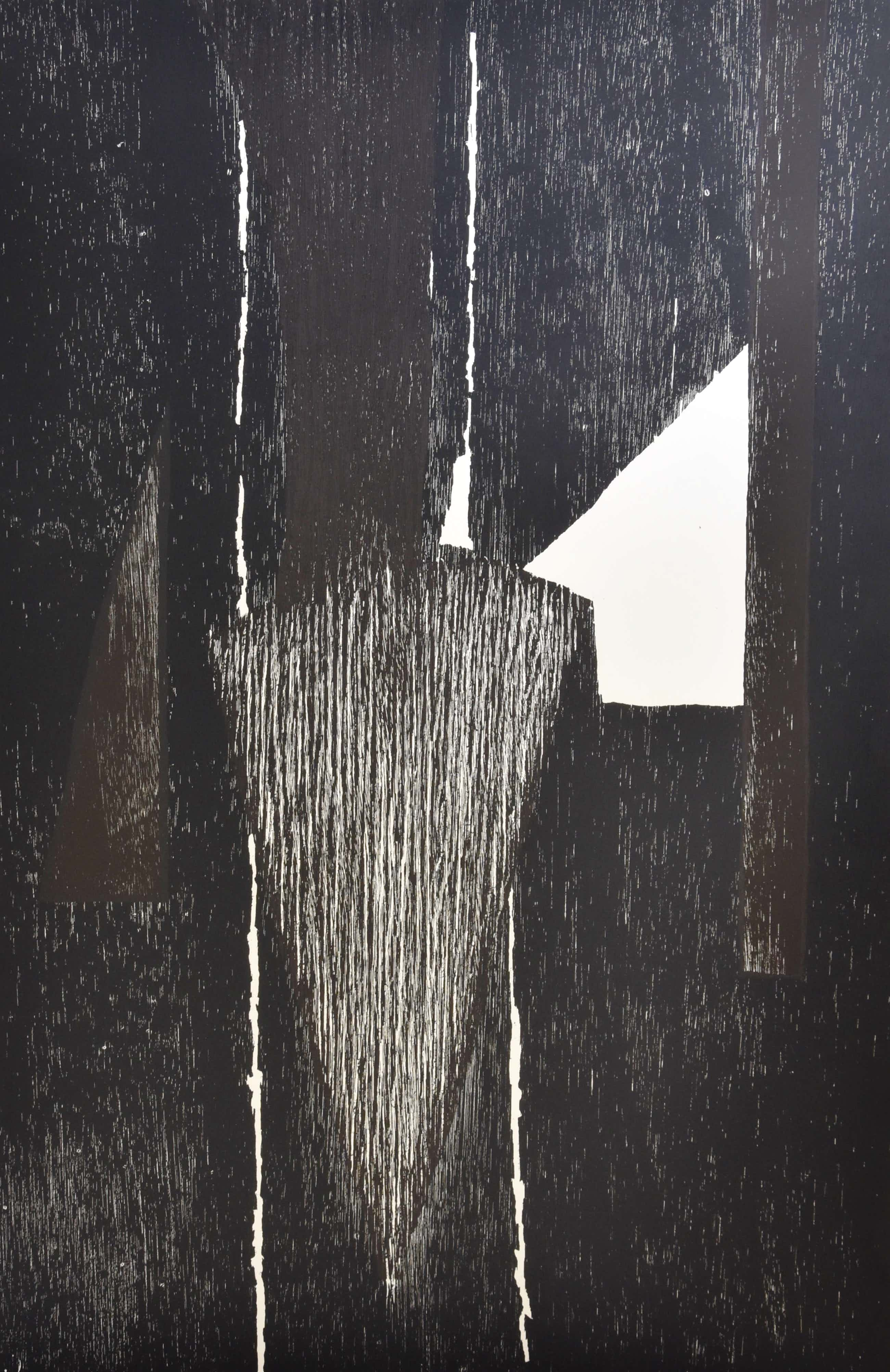 Guillaume Le Roy - # COMPOSITIE # extreem groot formaat houtsnede, 1984, mint kopen? Bied vanaf 85!
