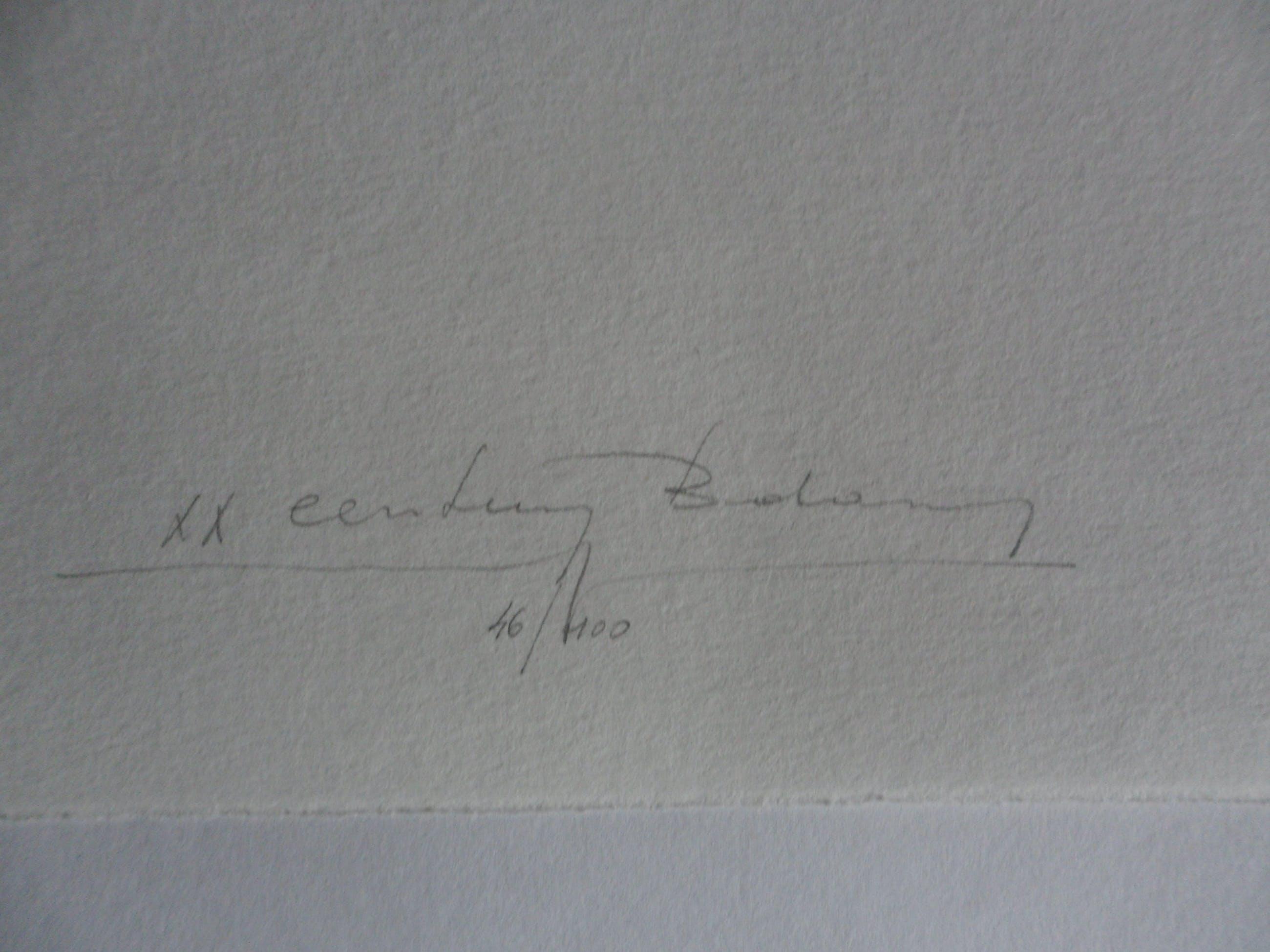 Martin R. Baeyens - Zeefdruk, zonder titel. kopen? Bied vanaf 20!