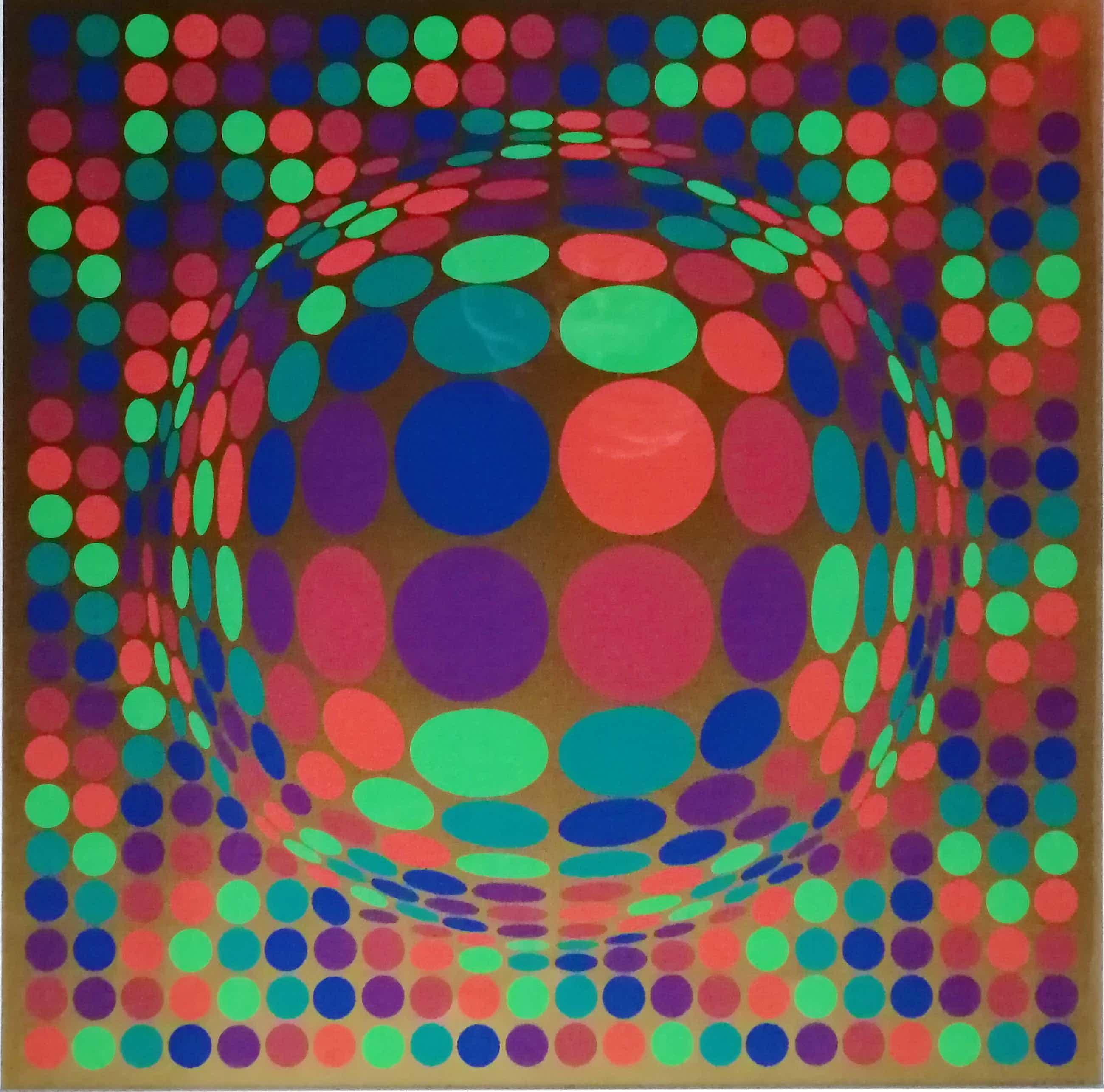 Victor Vasarely - Geometrische compositie kopen? Bied vanaf 375!