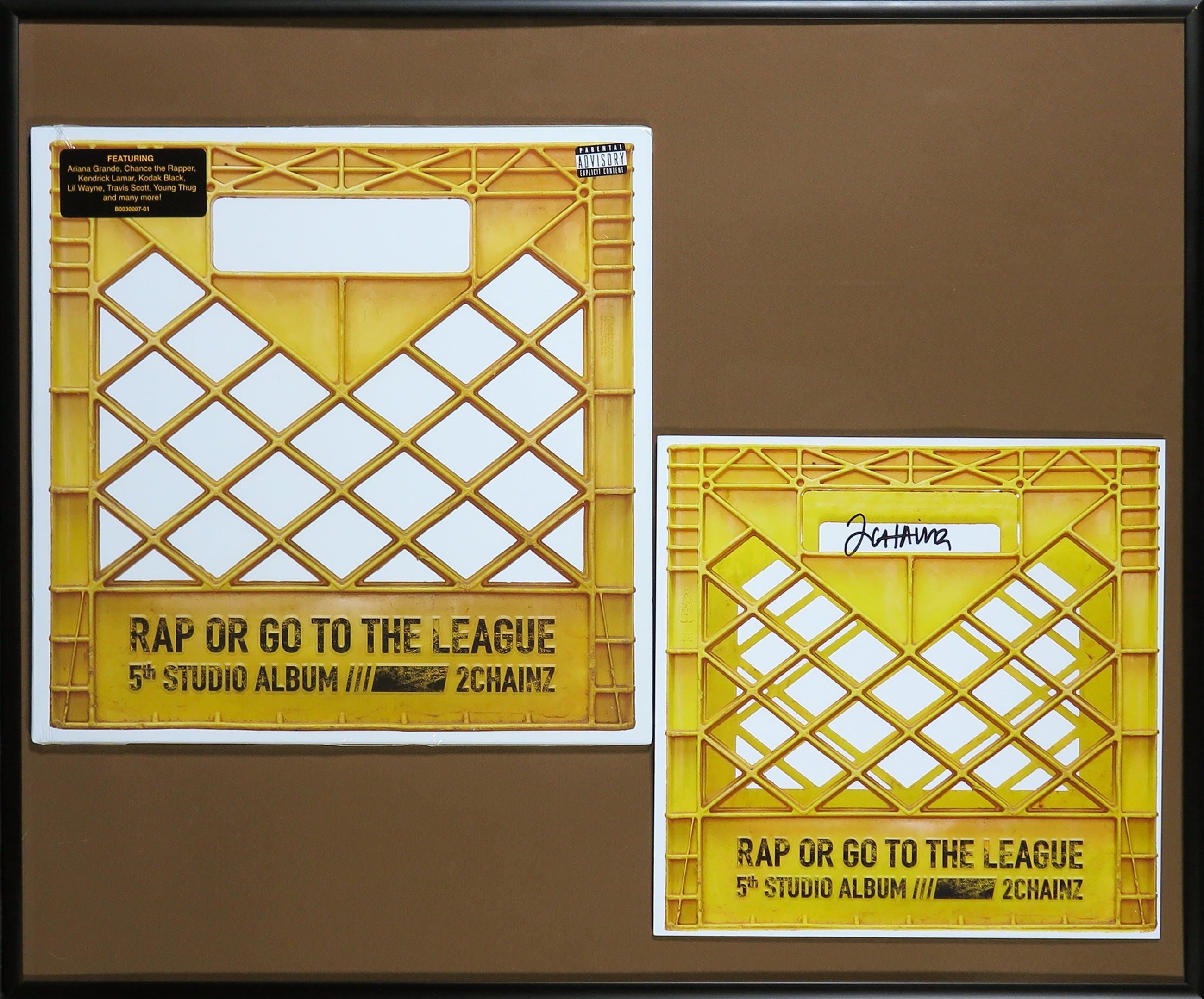 2 Chainz - Album Rap or go to the league met gesigneerde zeefdruk - Ingelijst kopen? Bied vanaf 1!