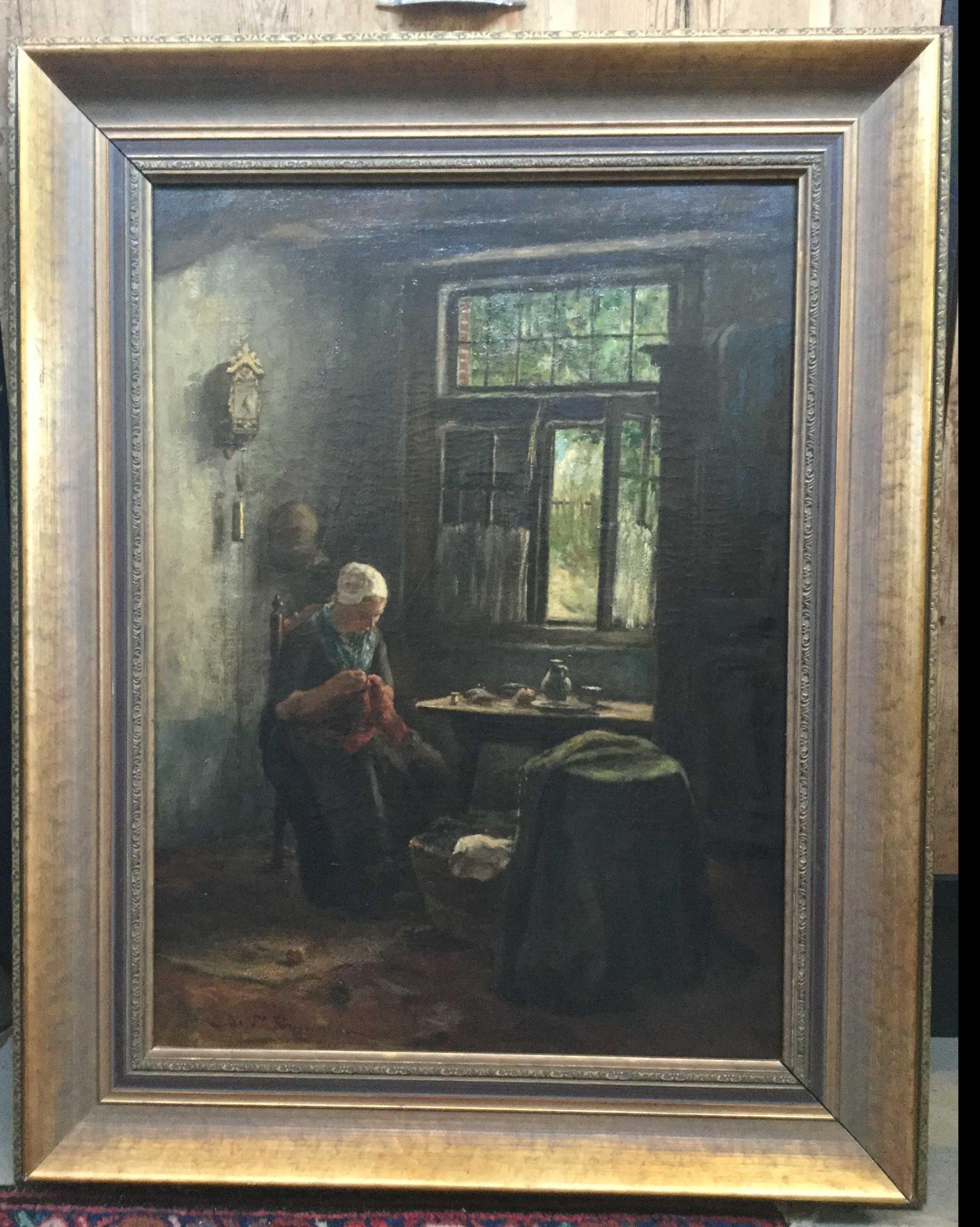 Jacobus Franciscus Brugman - C3059, bordurend meisje in interieur kopen? Bied vanaf 125!