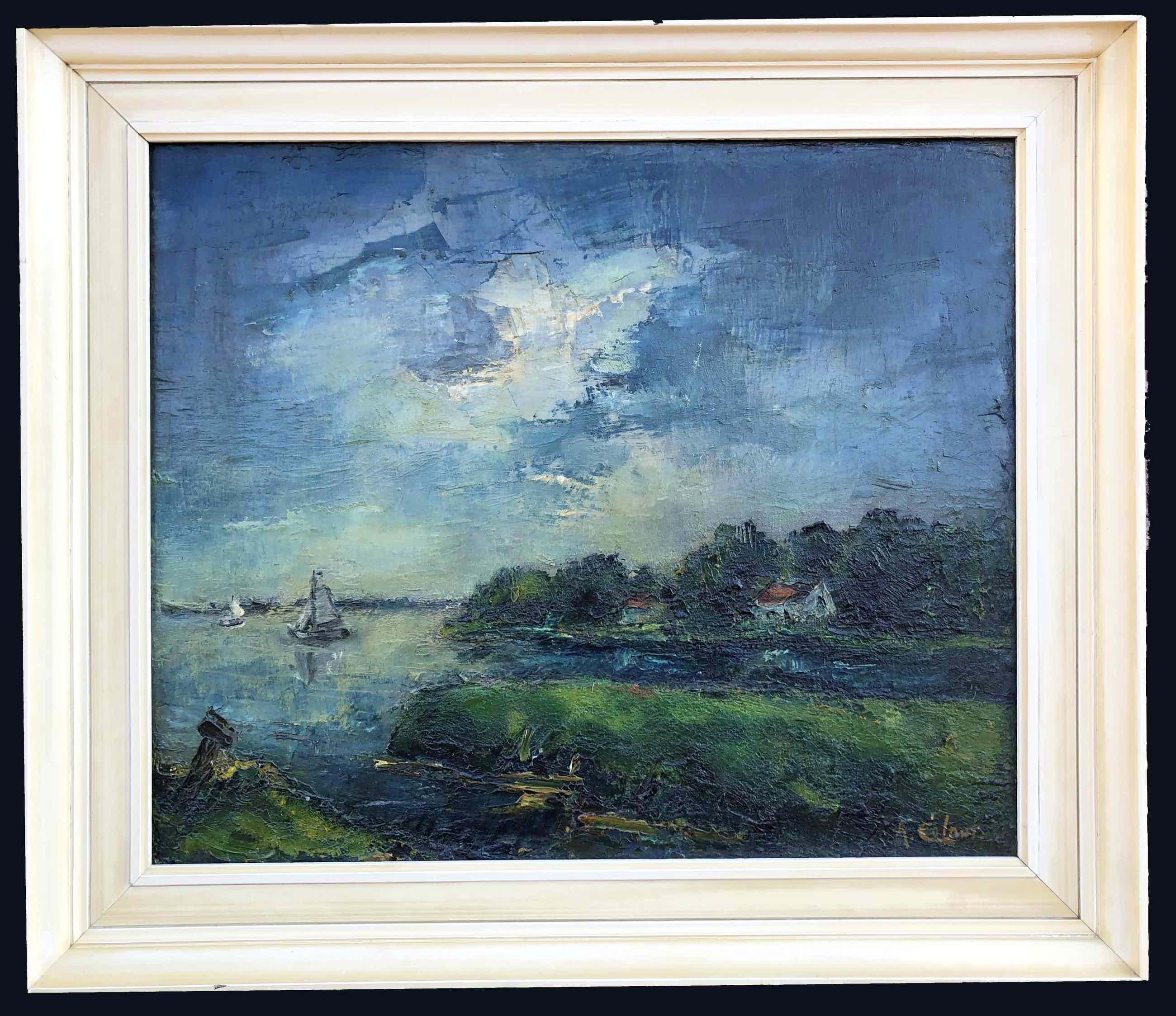 Arnout Colnot - Polderlandschap met boten kopen? Bied vanaf 540!