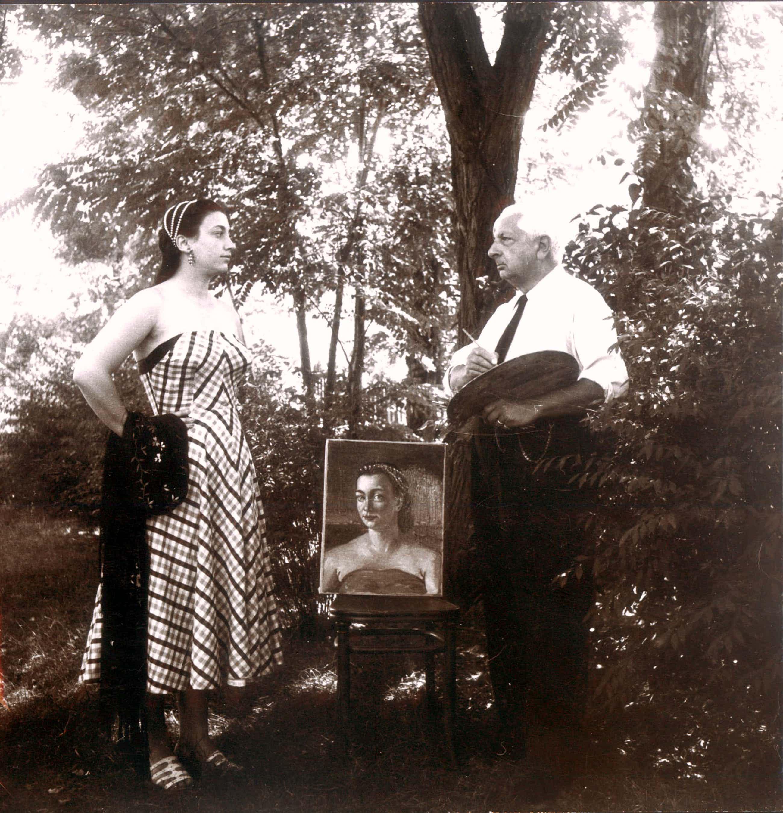 Boris Lipnitzki - Giorgio de Chirico im Garten mit Modell kopen? Bied vanaf 520!