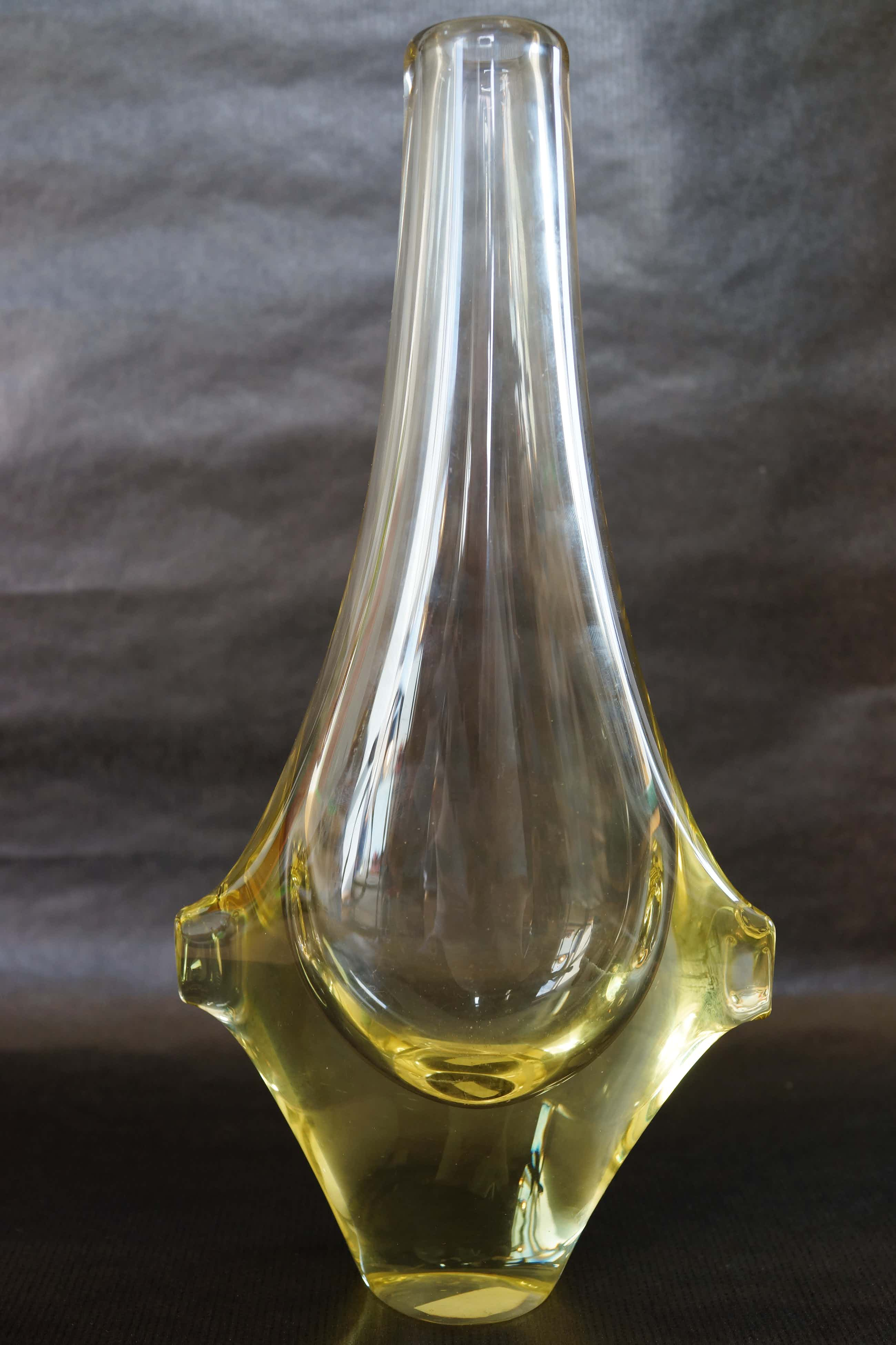 Miroslav Klinger - gemaakt voor Zelezny Brod amber of geel citrine glas kopen? Bied vanaf 50!