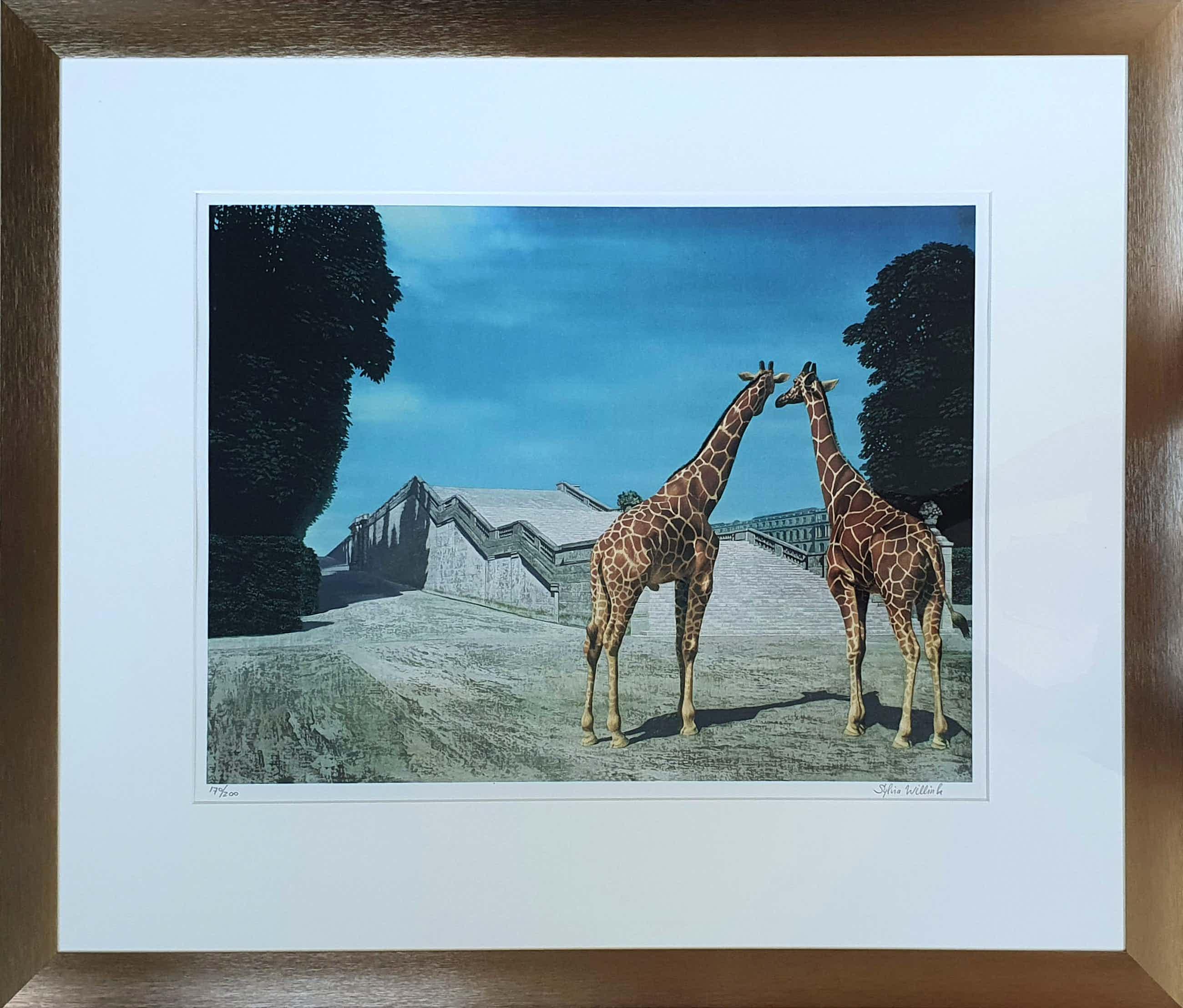 """Carel Willink - 2 Litho's: """"Twee giraffen in het park van Versailles"""" en """"Kameel in het park... kopen? Bied vanaf 340!"""
