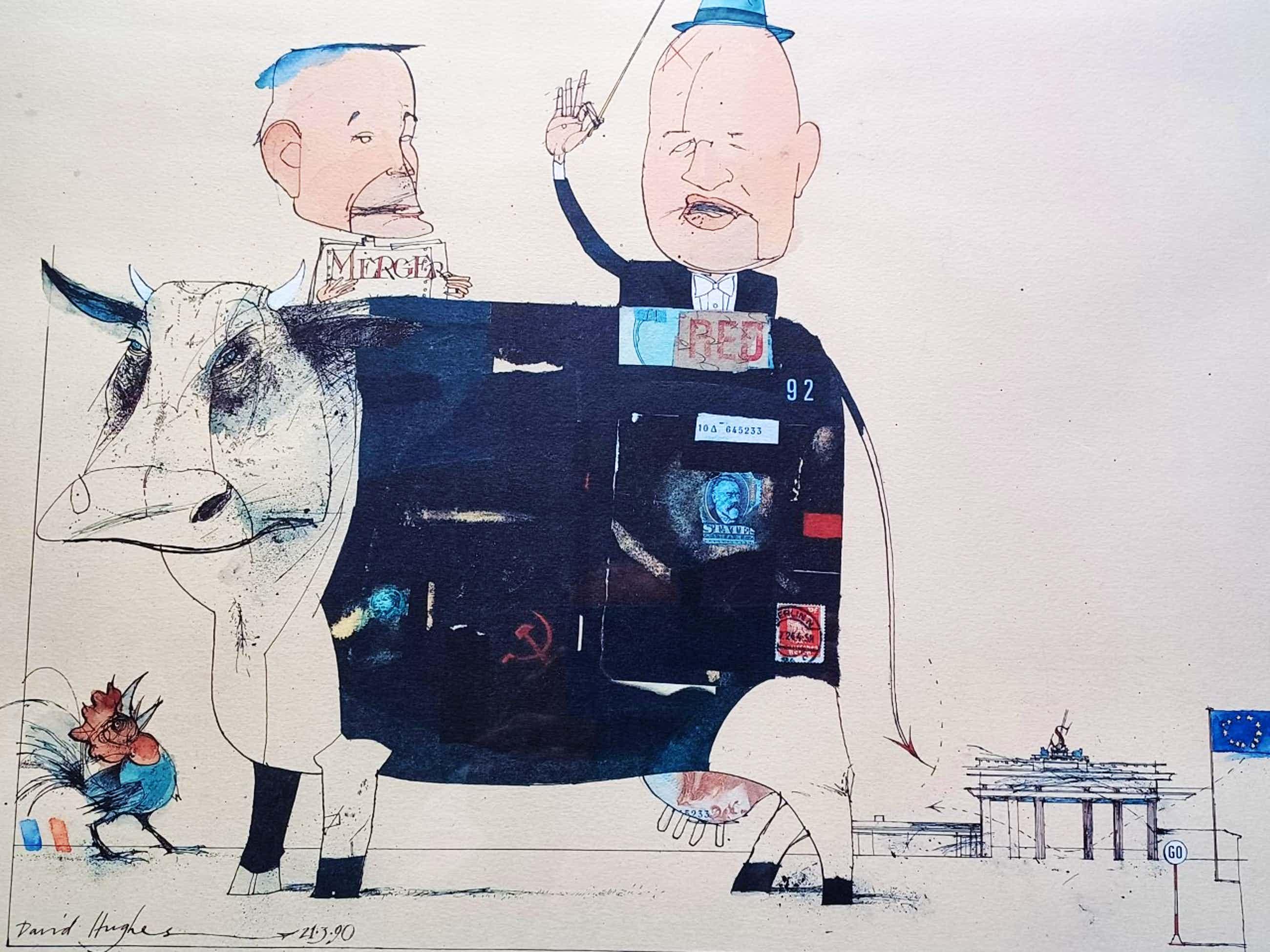 David Hughes - Twee oude heren bij een koe. kopen? Bied vanaf 79!