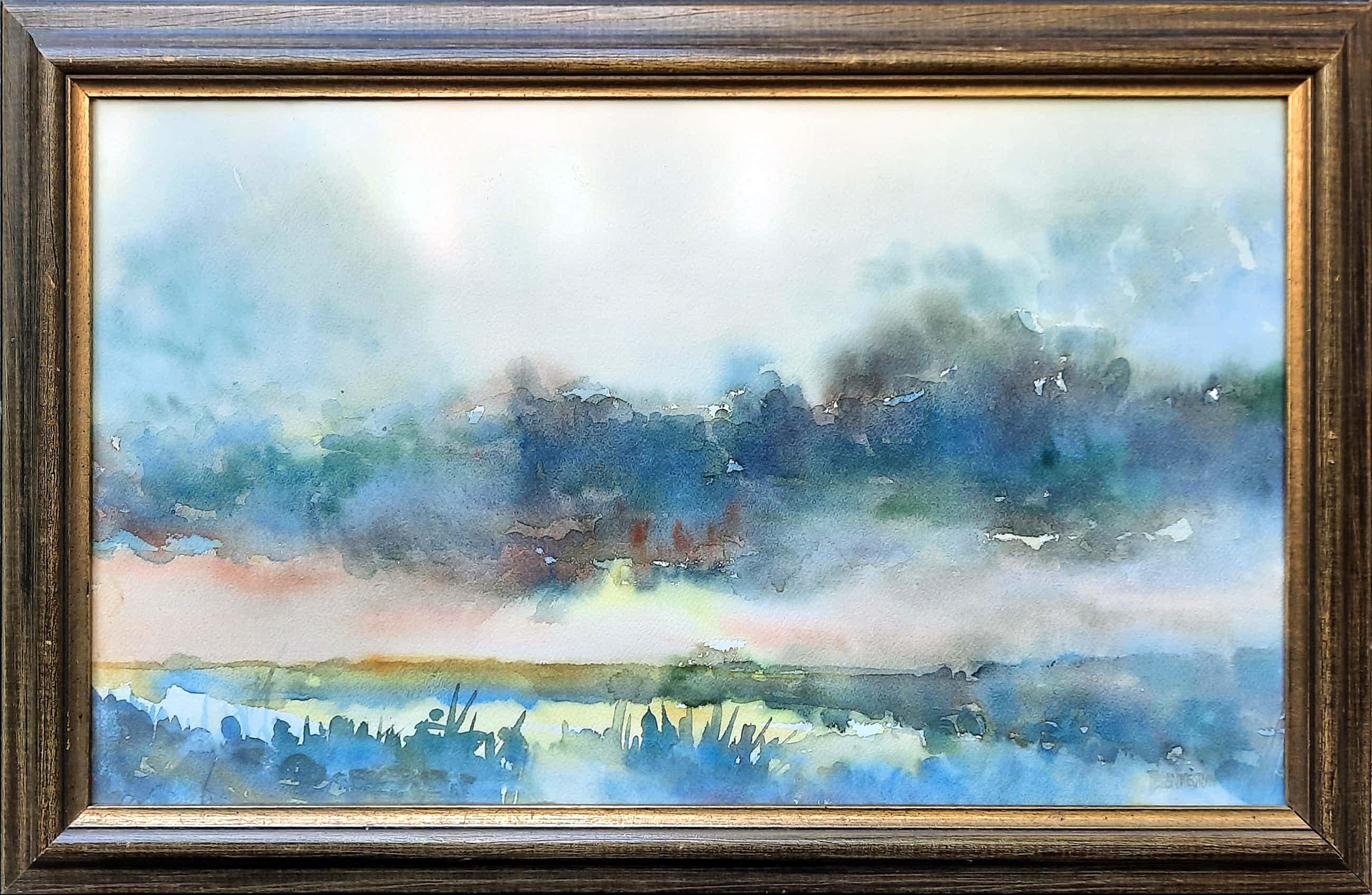 Theo Blankestijn - aquarel - Noord-Hollandse polder - 21036 kopen? Bied vanaf 85!