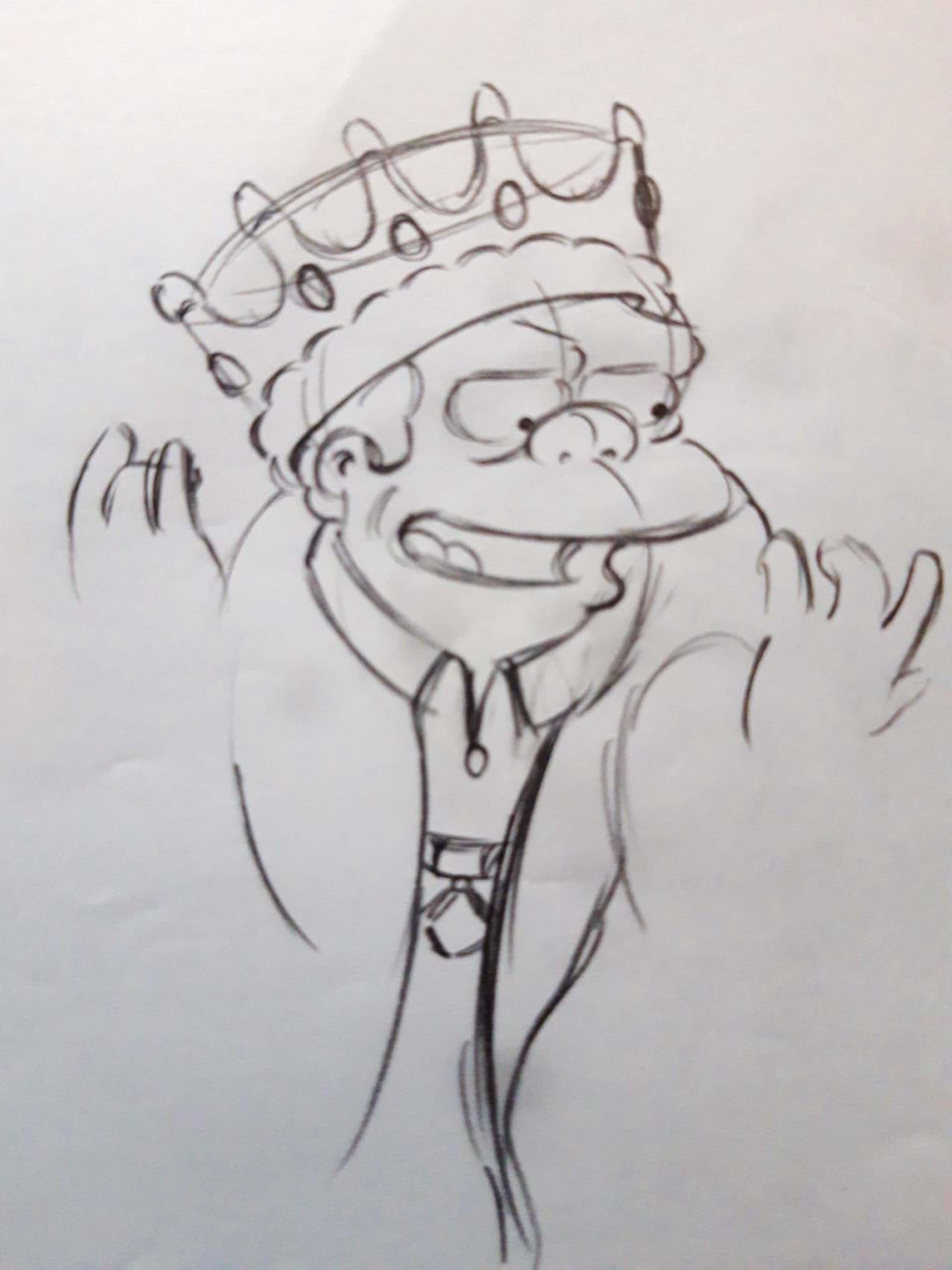 Matt Groening - originele productie tekening, The Simpsons, Nelson Muntz kopen? Bied vanaf 60!