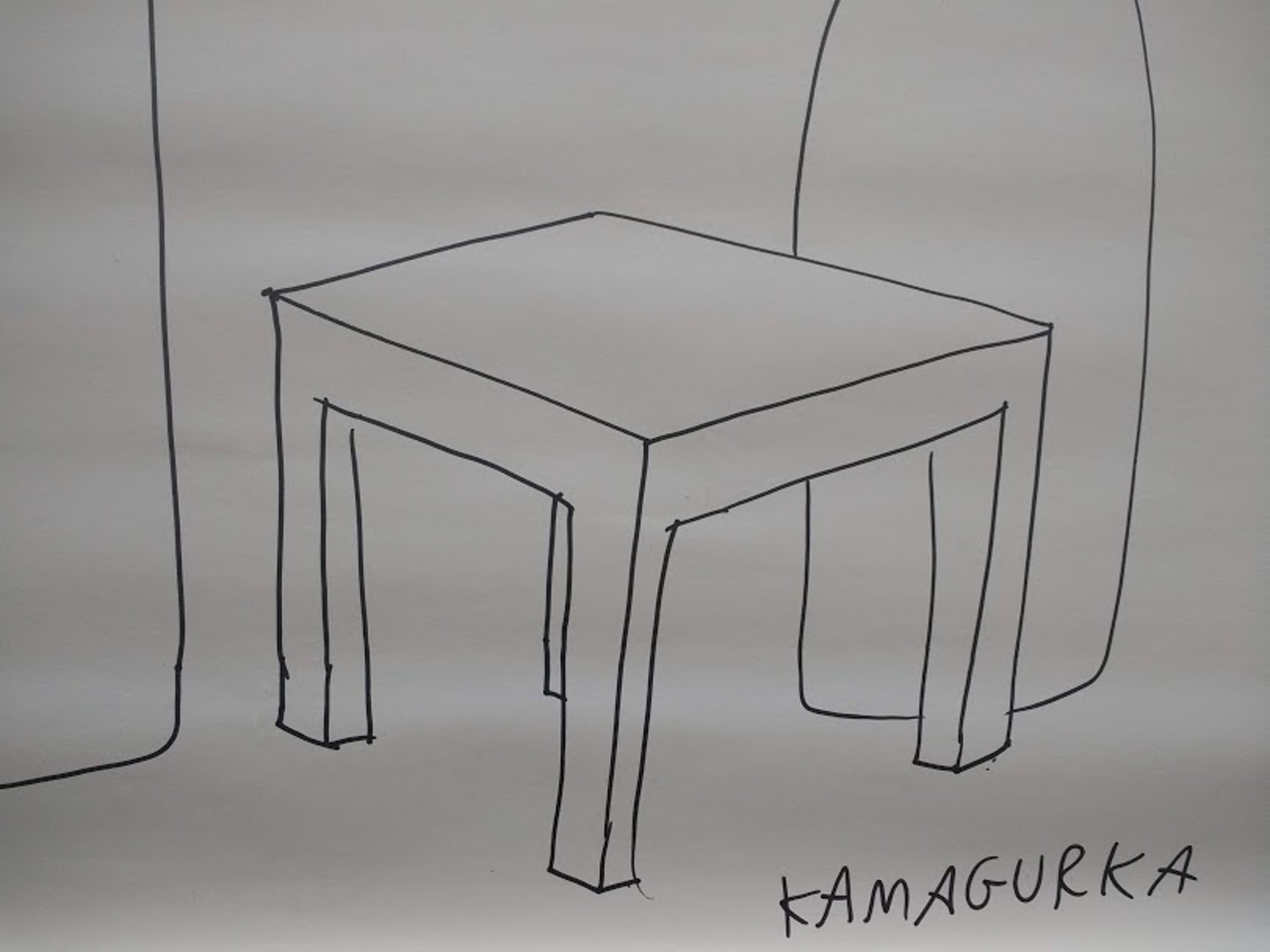 Kamagurka - zeer grote tekening op papier 116 x 100 cm, handgesigneerd kopen? Bied vanaf 600!