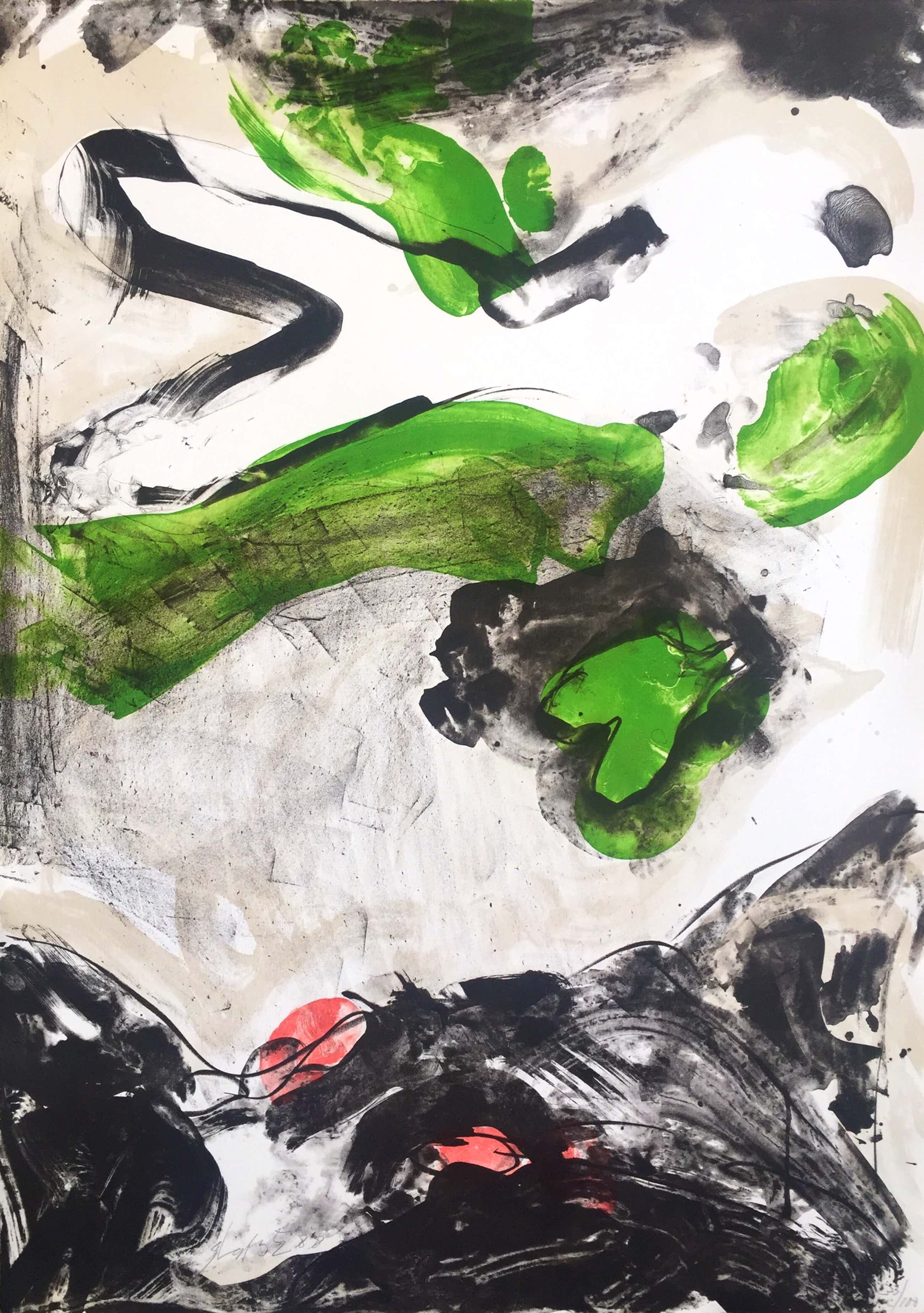 Ger Lataster - grote abstracte litho - 1988 - oplage 100 ex kopen? Bied vanaf 50!