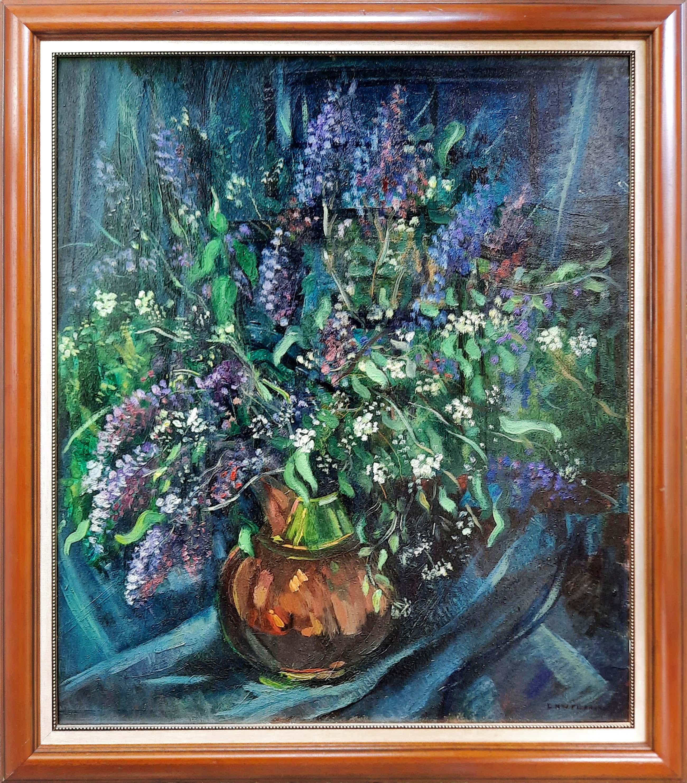 Dirk Filarski - 1885-1964 - Bergense school - olieverf bloemstilleven in koperen pot - 21055 kopen? Bied vanaf 850!