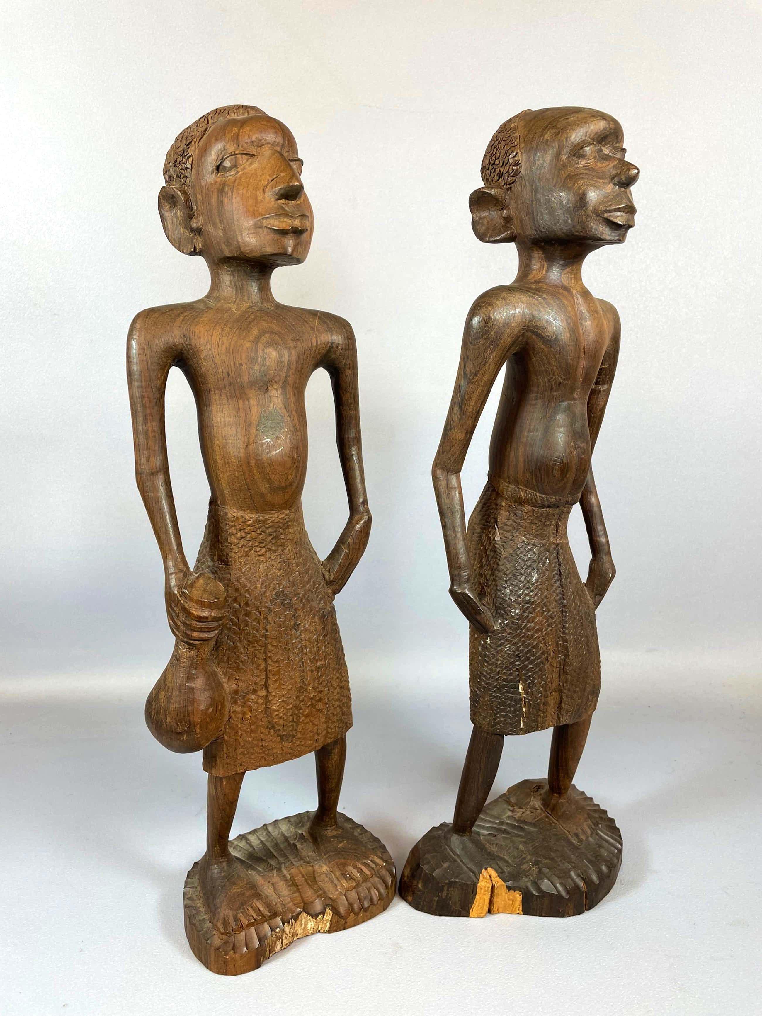Ethiopie - African 2 prachtige Ebony beelden . kopen? Bied vanaf 25!