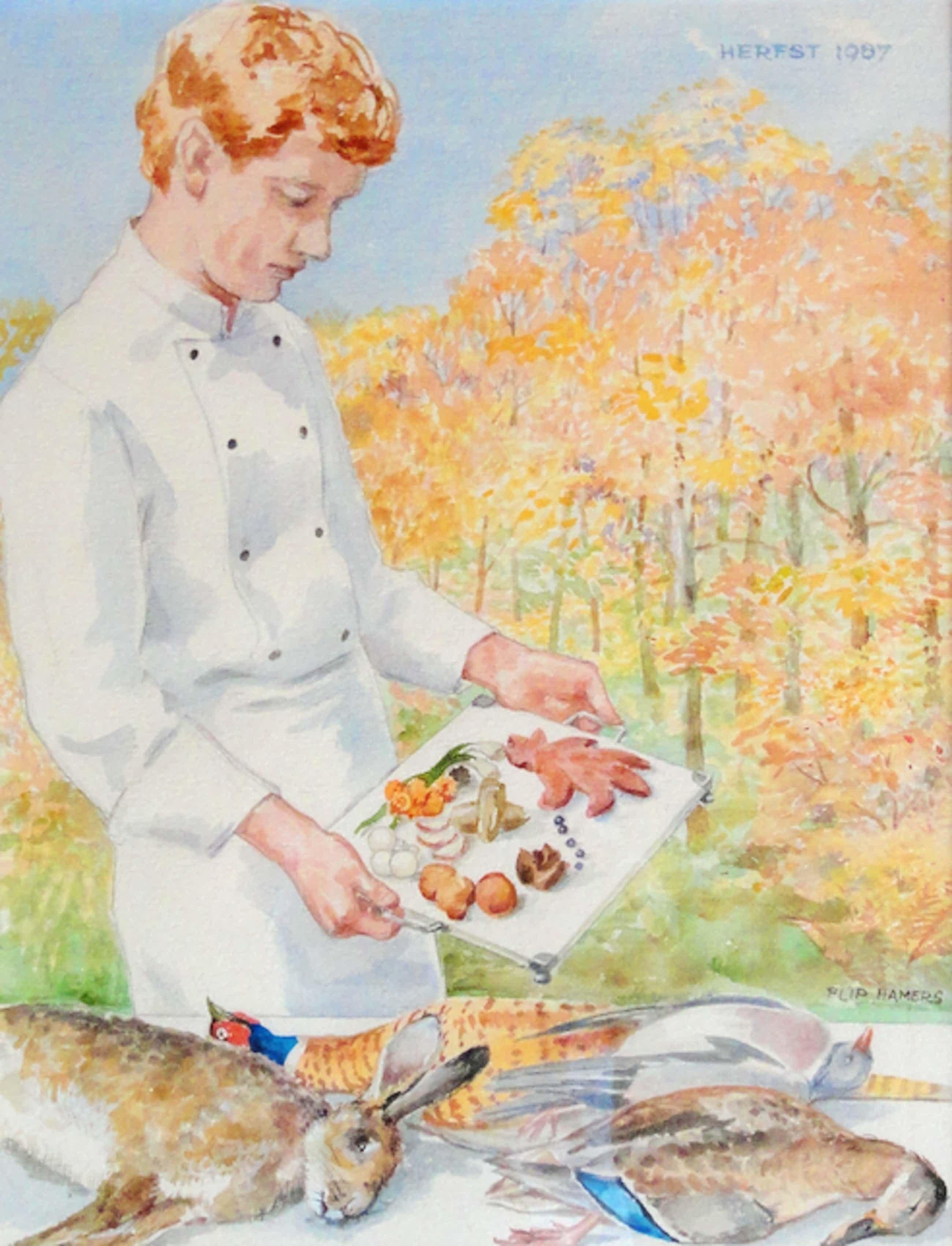 Flip Hamers - Kok bereidt wildmaaltijd kopen? Bied vanaf 150!