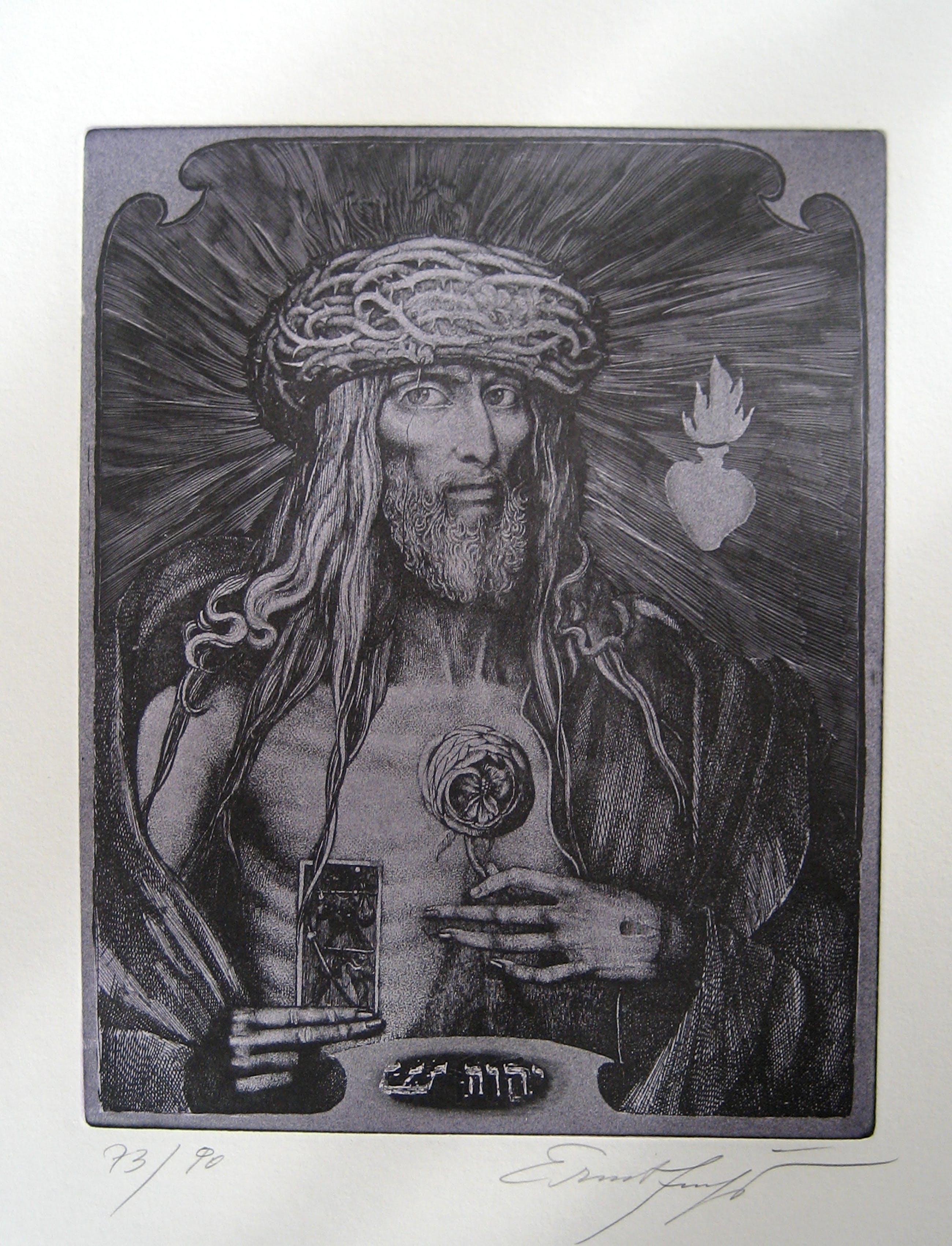 Ernst Fuchs - Ernst Fuchs - Ets uit 1975 - 'Christ König'-nr. 73/90 kopen? Bied vanaf 125!