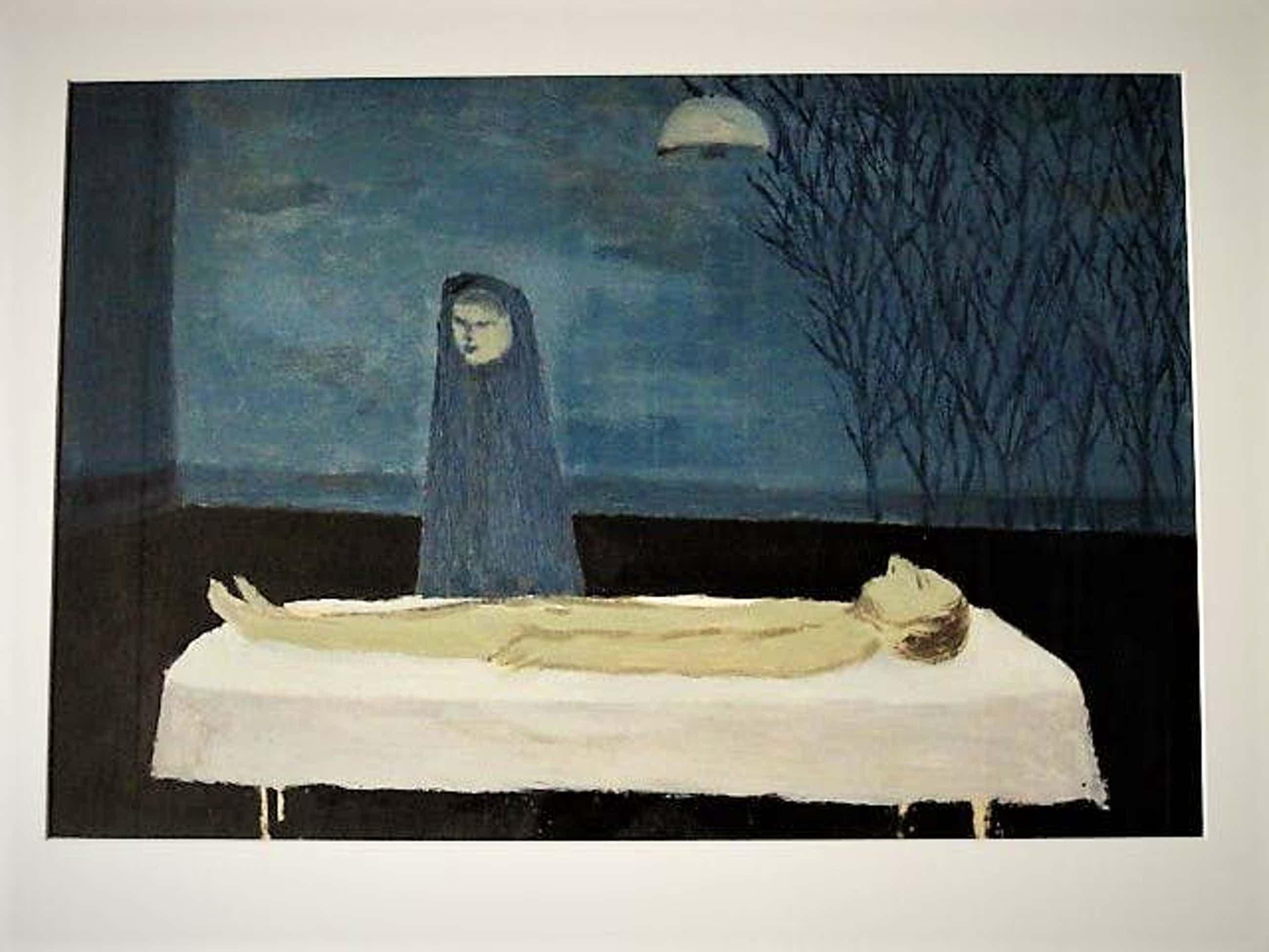 """Metten Koornstra - jaren 70 - olieverf op papier schilderij van de """"Decorateur van het Boekenbal"""" kopen? Bied vanaf 121!"""